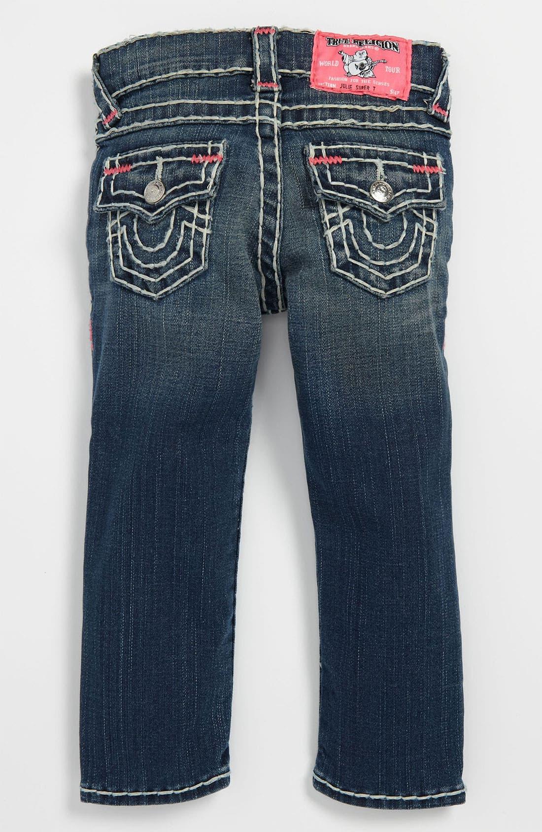 Alternate Image 1 Selected - True Religion Brand Jeans 'Julie' Skinny Leg Jeans (Toddler)