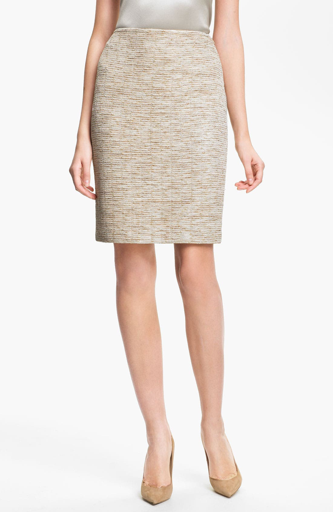 Alternate Image 1 Selected - St. John Collection Shimmer Knit Pencil Skirt