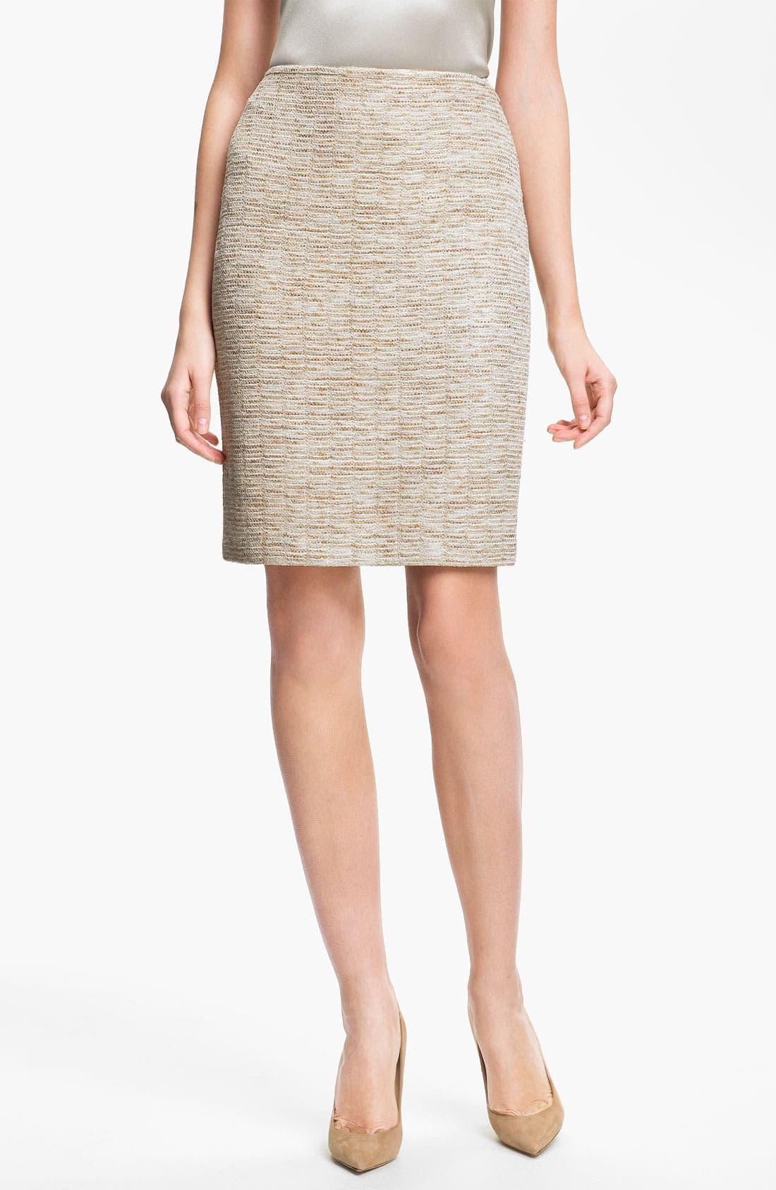 Main Image - St. John Collection Shimmer Knit Pencil Skirt