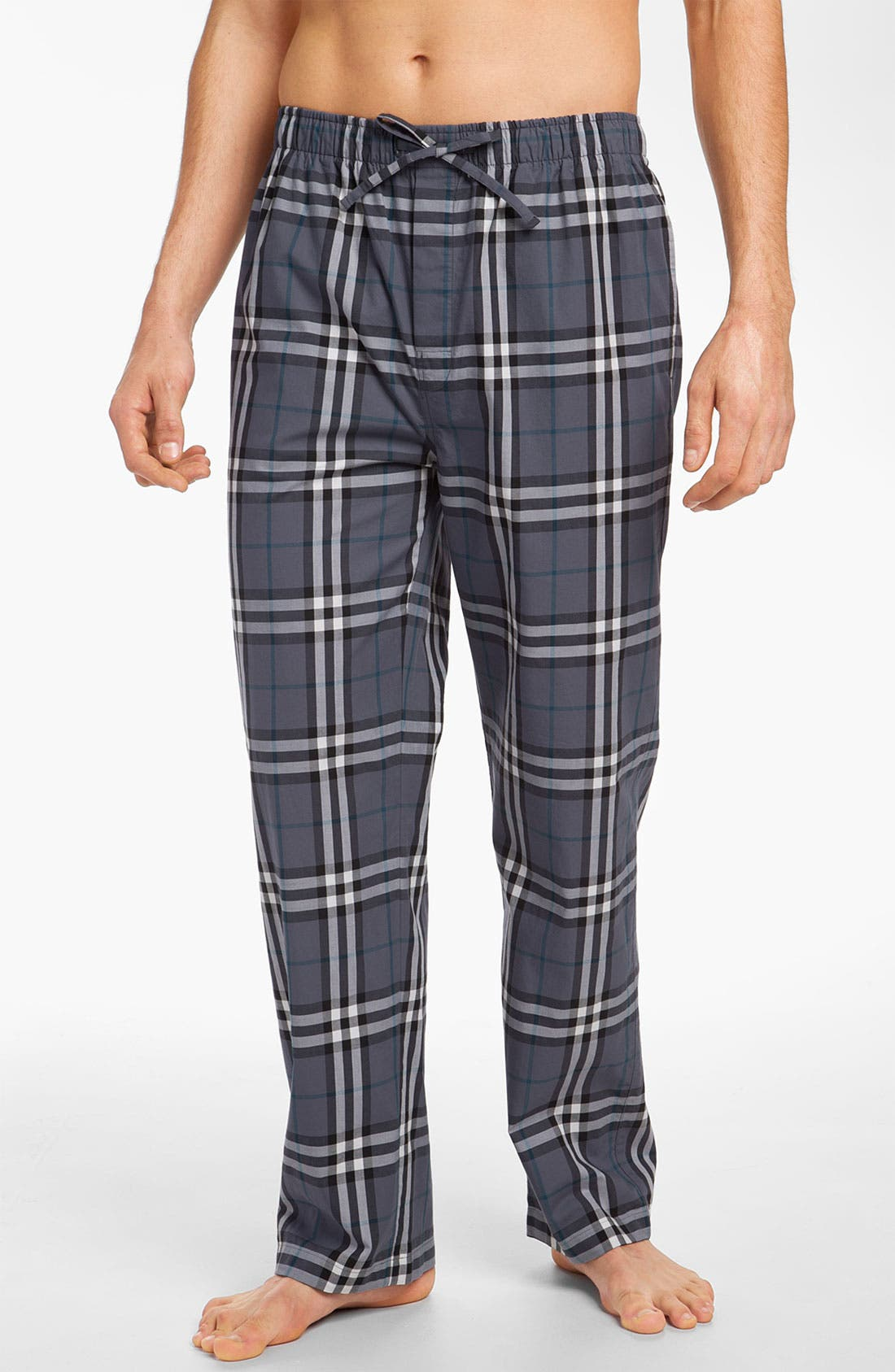 Alternate Image 1 Selected - Burberry Check Cotton Pajama Pants