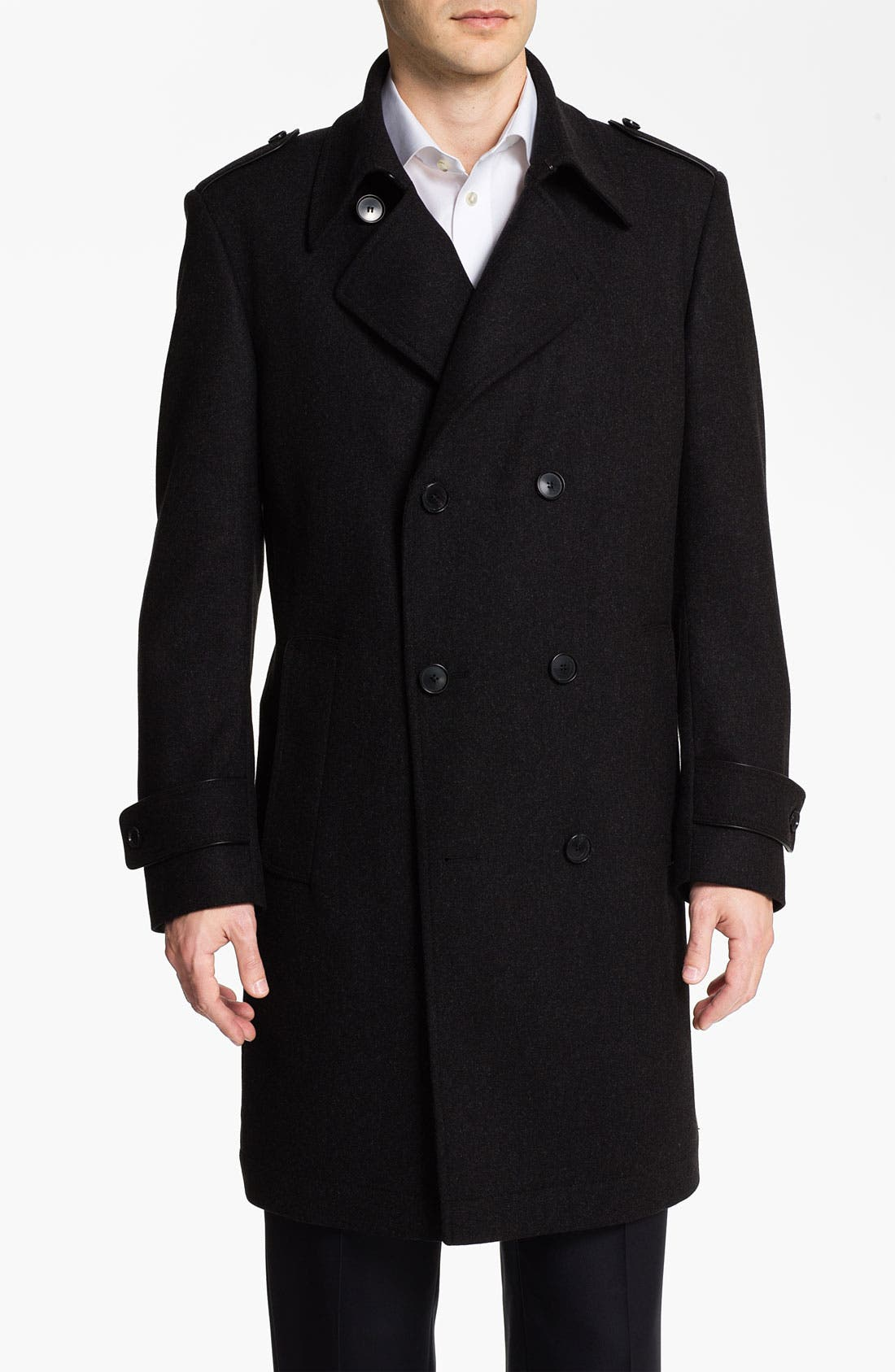Alternate Image 1 Selected - BOSS Black 'Husk' Double Breasted Topcoat