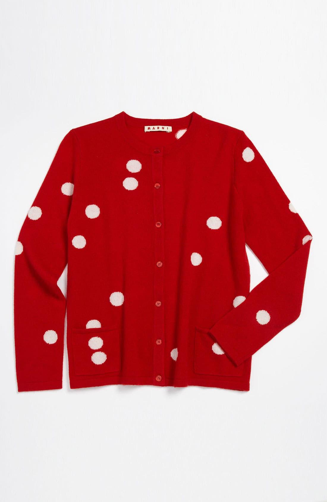 Main Image - Marni 'Maglieria' Cashmere Button Cardigan (Little Girls & Big Girls)