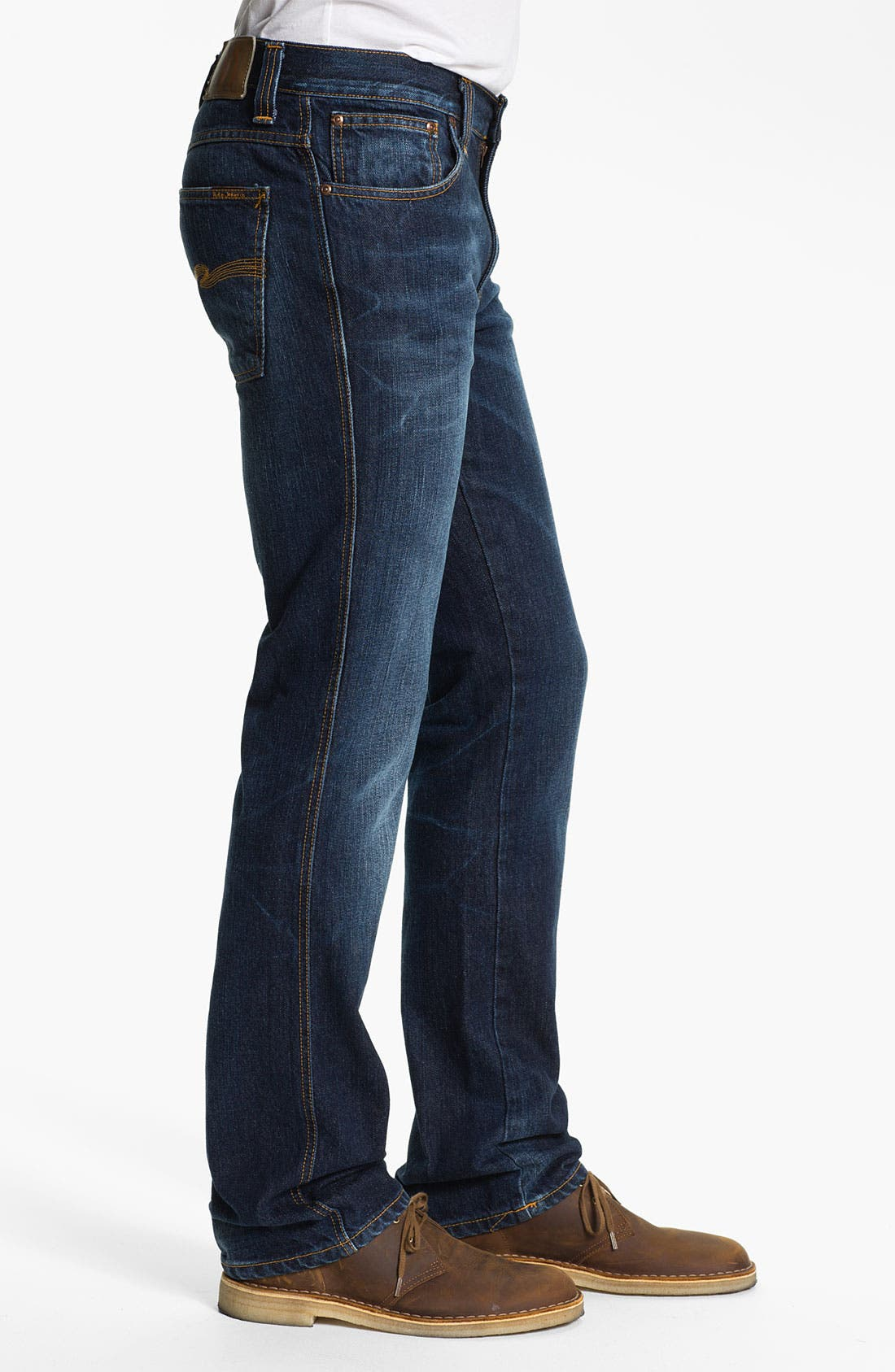 Alternate Image 3  - Nudie 'Slim Jim' Slim Straight Leg Jeans (Organic Blue Note)