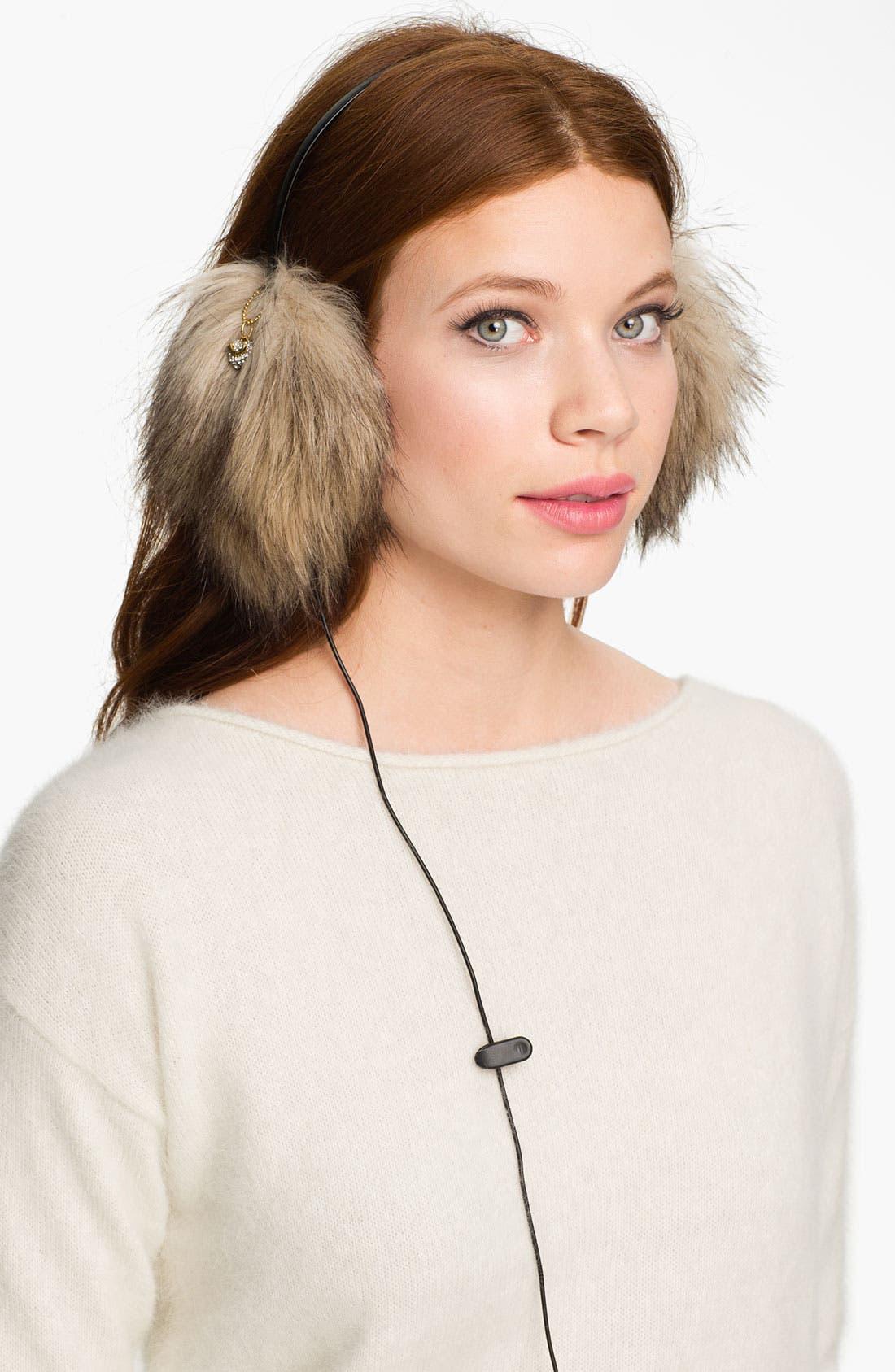 Main Image - Juicy Couture Faux Fur Headphone Earmuffs