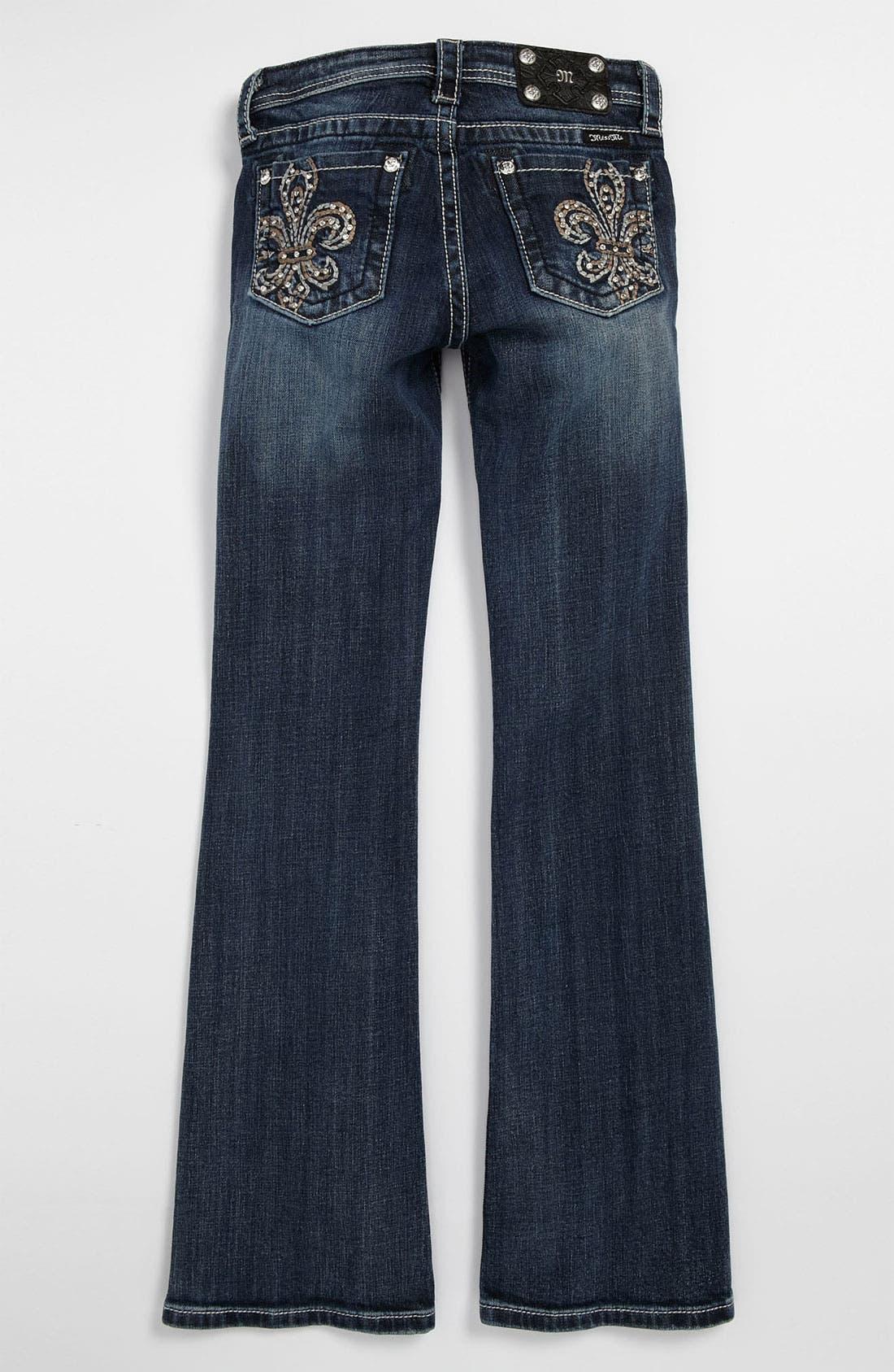 Main Image - Miss Me 'Fleur' Bootcut Jeans (Big Girls)
