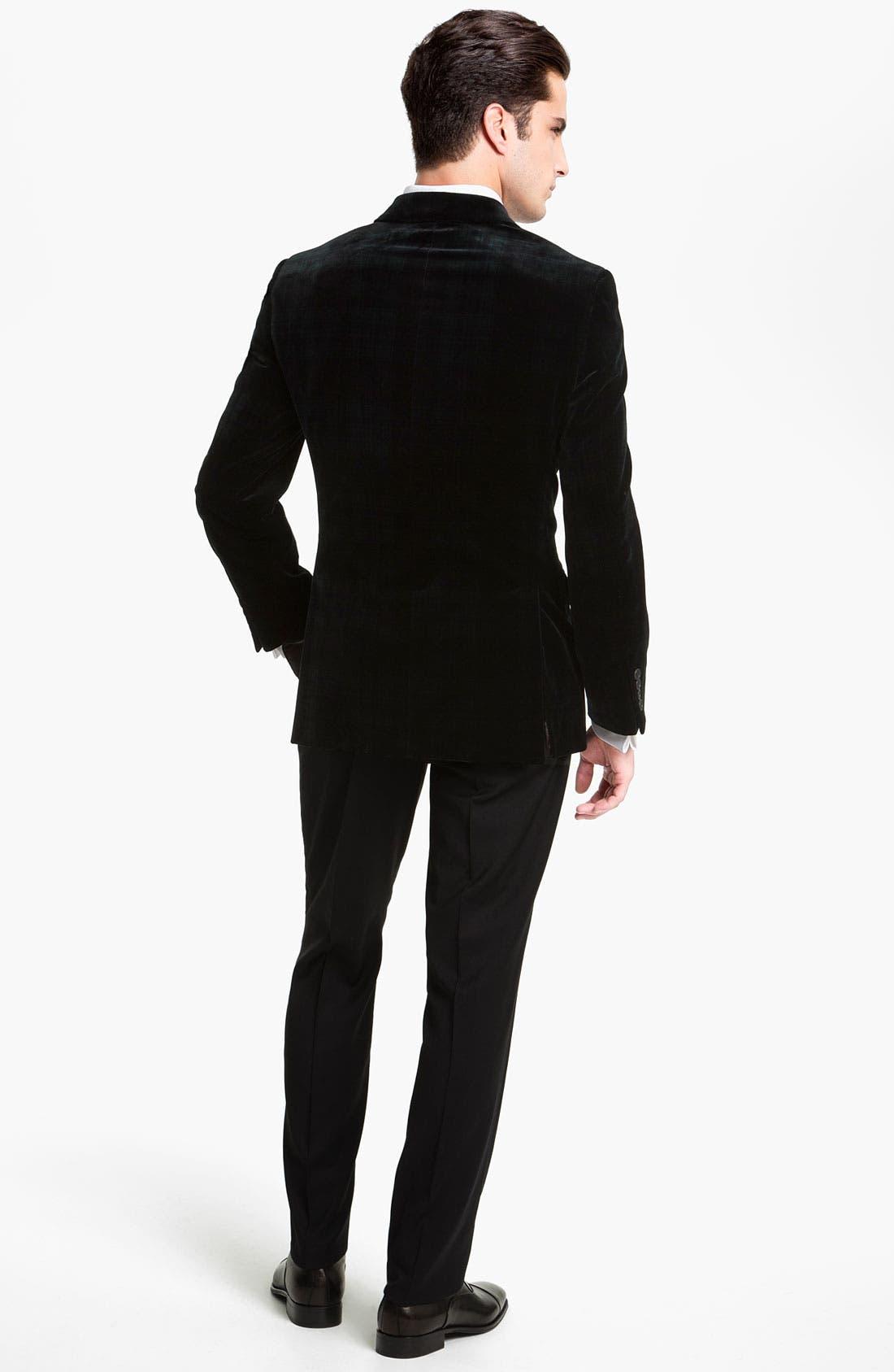 Alternate Image 5  - Joseph Abboud Plaid Velvet Blazer
