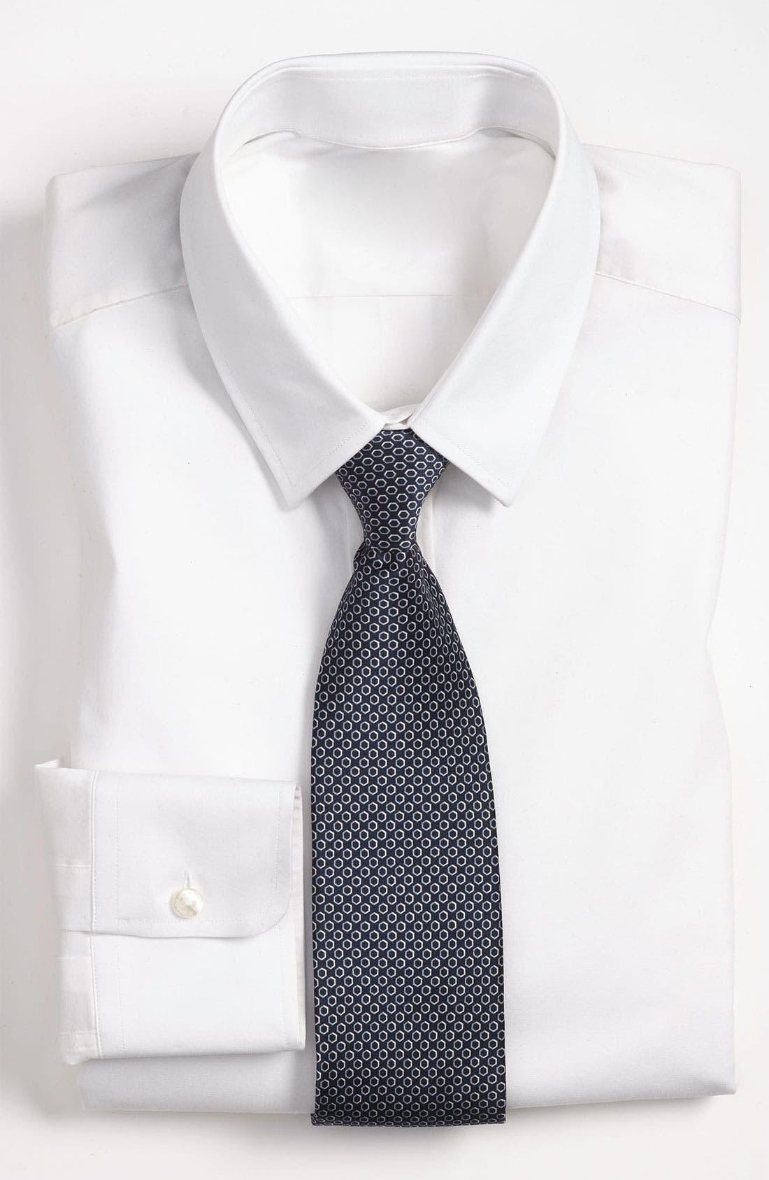 Main Image - Yves Saint Laurent Hexagon Pattern Woven Silk Tie