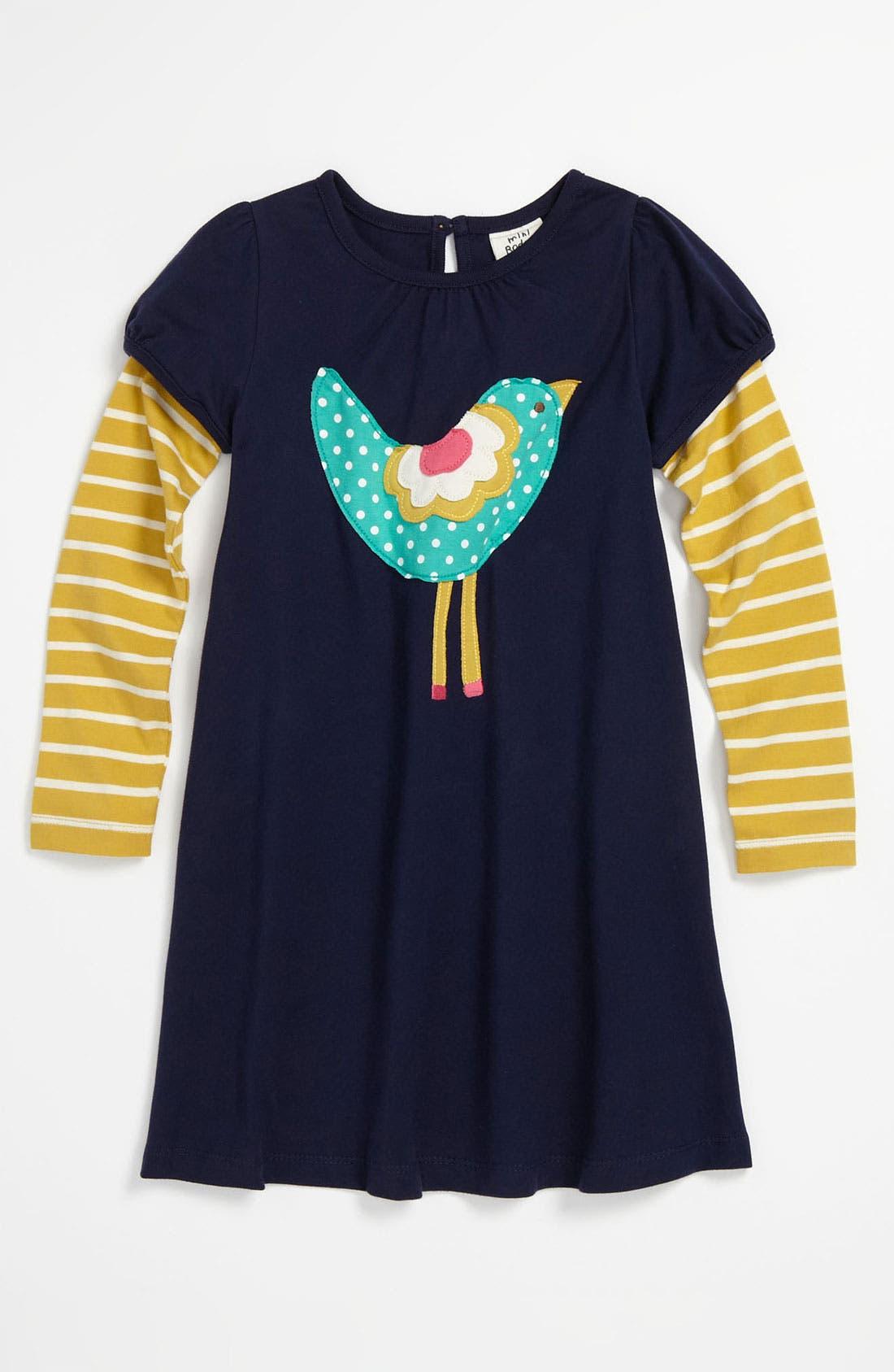 Main Image - Mini Boden 'Fun' Logo Dress (Toddler, Little Girls & Big Girls)