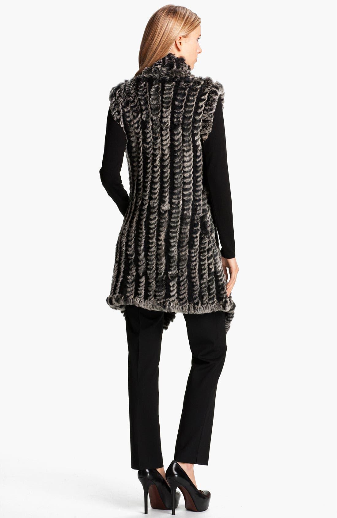 Alternate Image 5  - Alberto Makali Knit & Genuine Rabbit Fur Vest