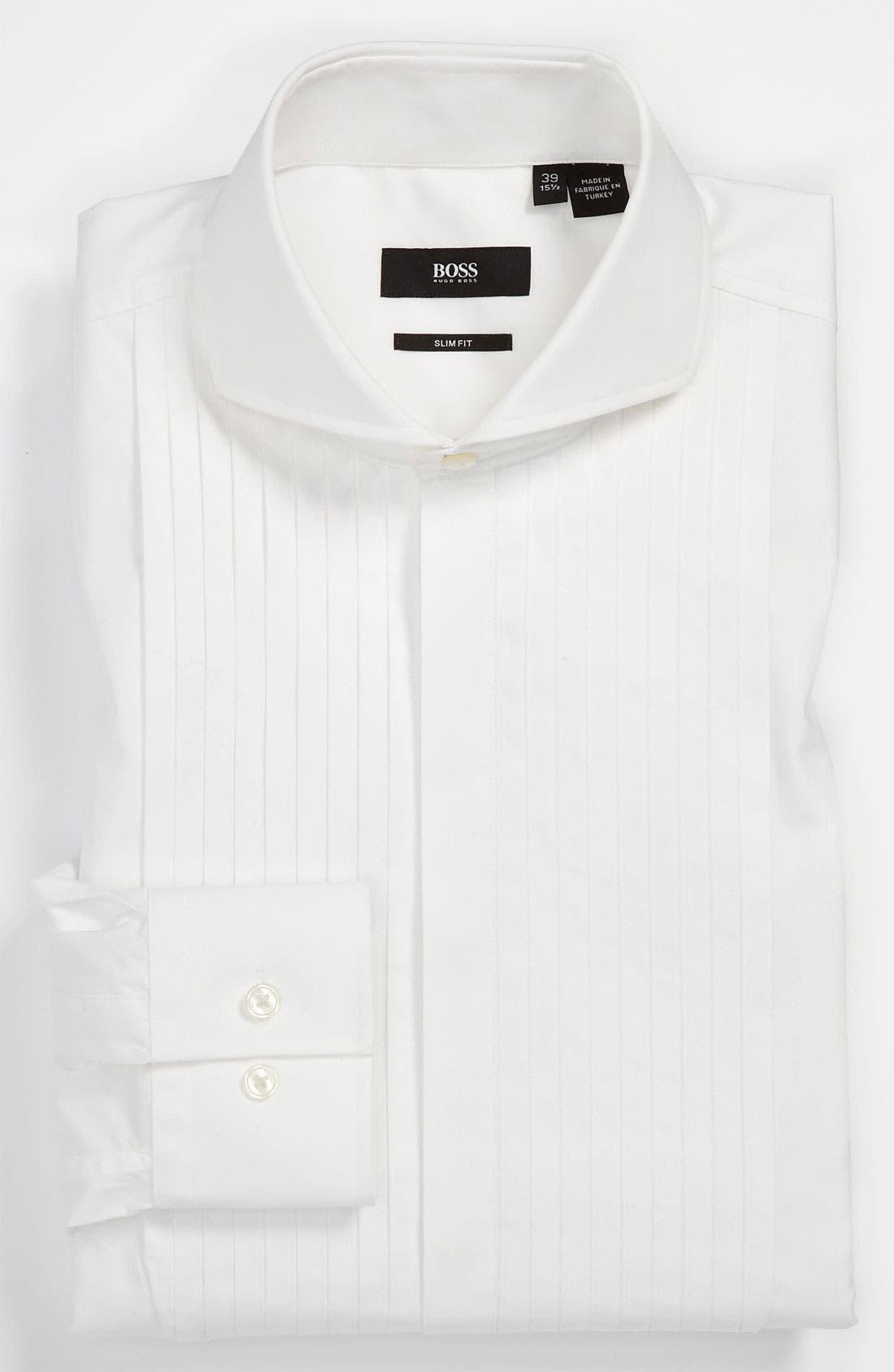 Alternate Image 1 Selected - BOSS Black Slim Fit Tuxedo Shirt