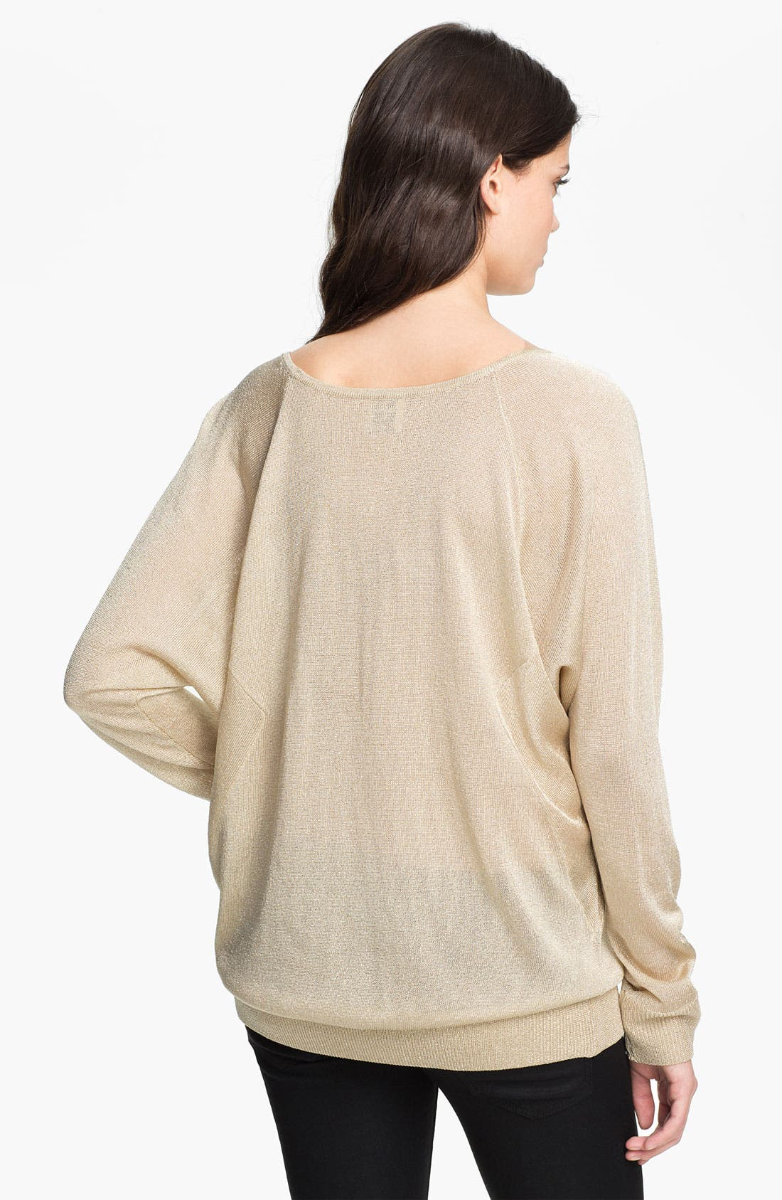 Alternate Image 2  - Haute Hippie Metallic Sweatshirt
