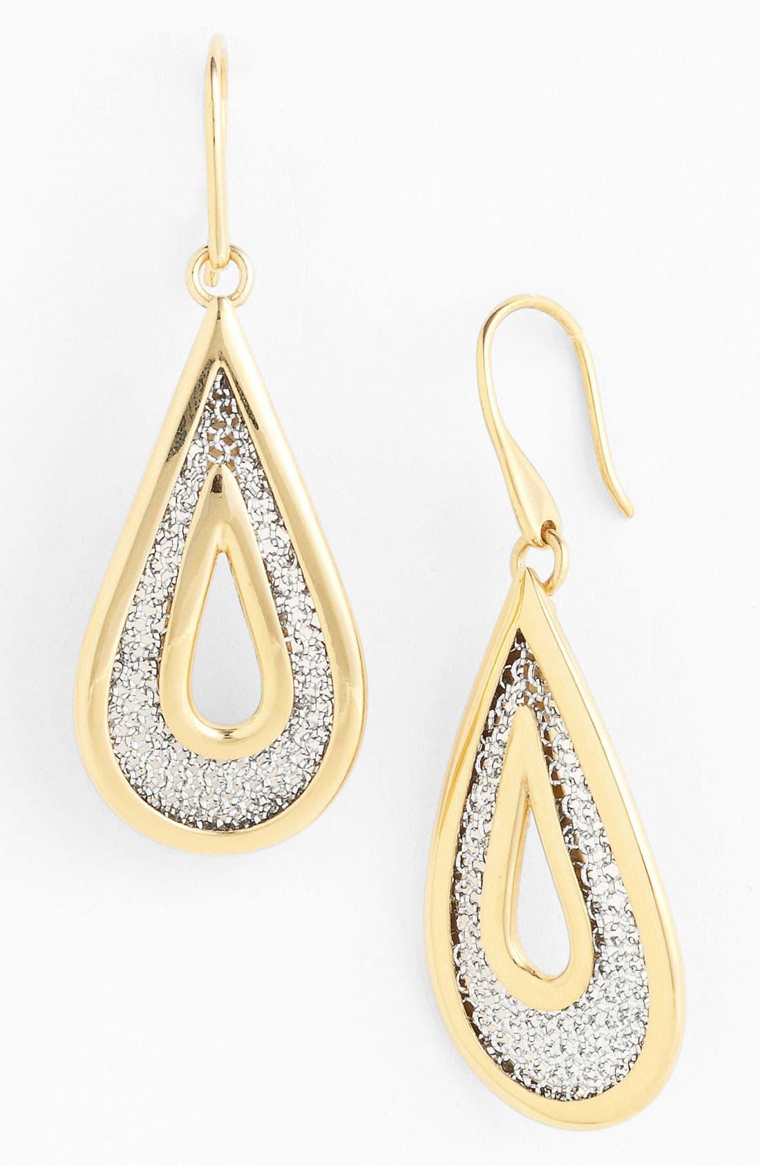 Main Image - Adami & Martucci 'Mesh' Small Open Teardrop Earrings (Nordstrom Exclusive)