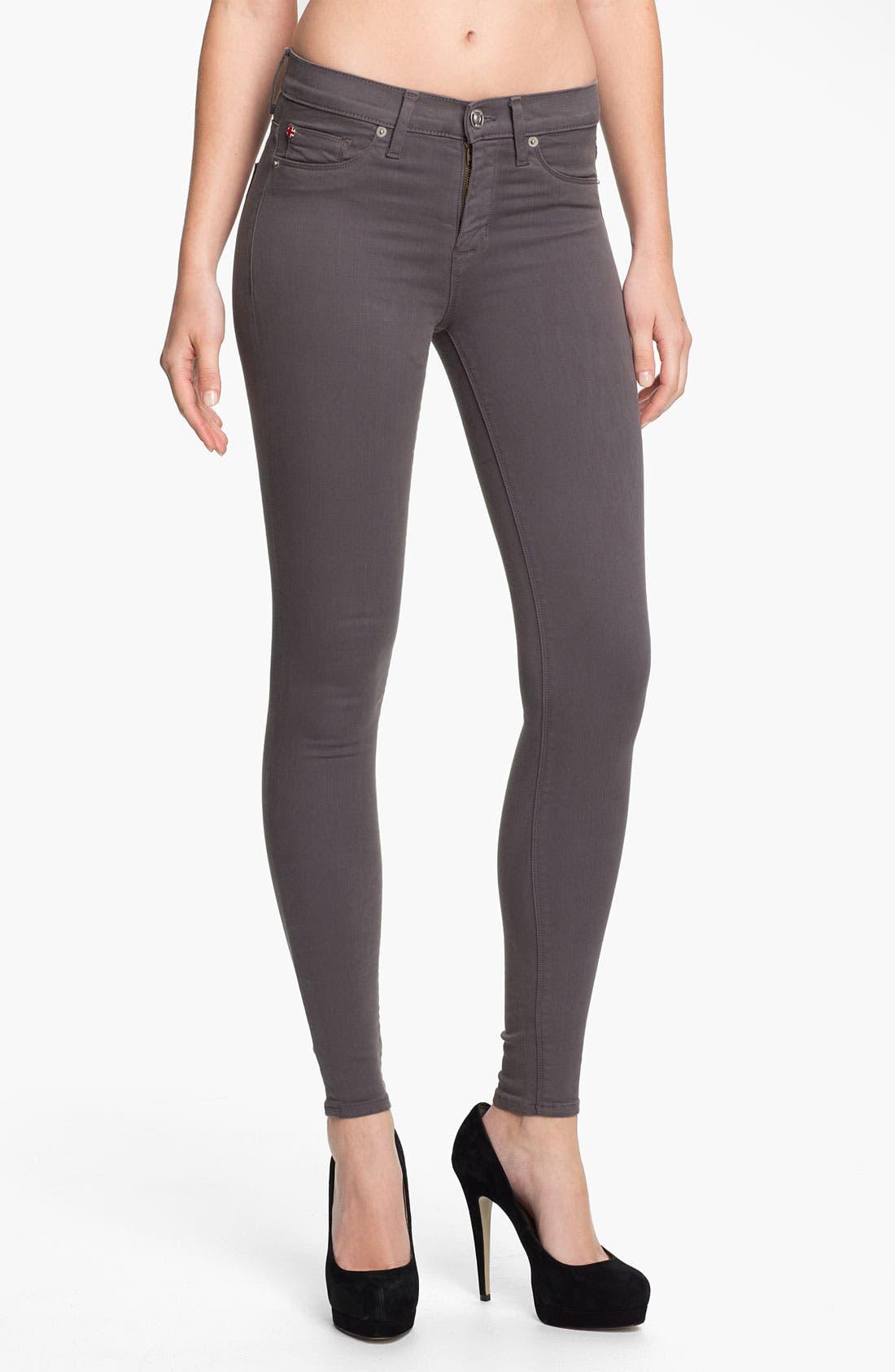 Main Image - Hudson Jeans 'Nico' Skinny Stretch Jeans (Dark Grey)