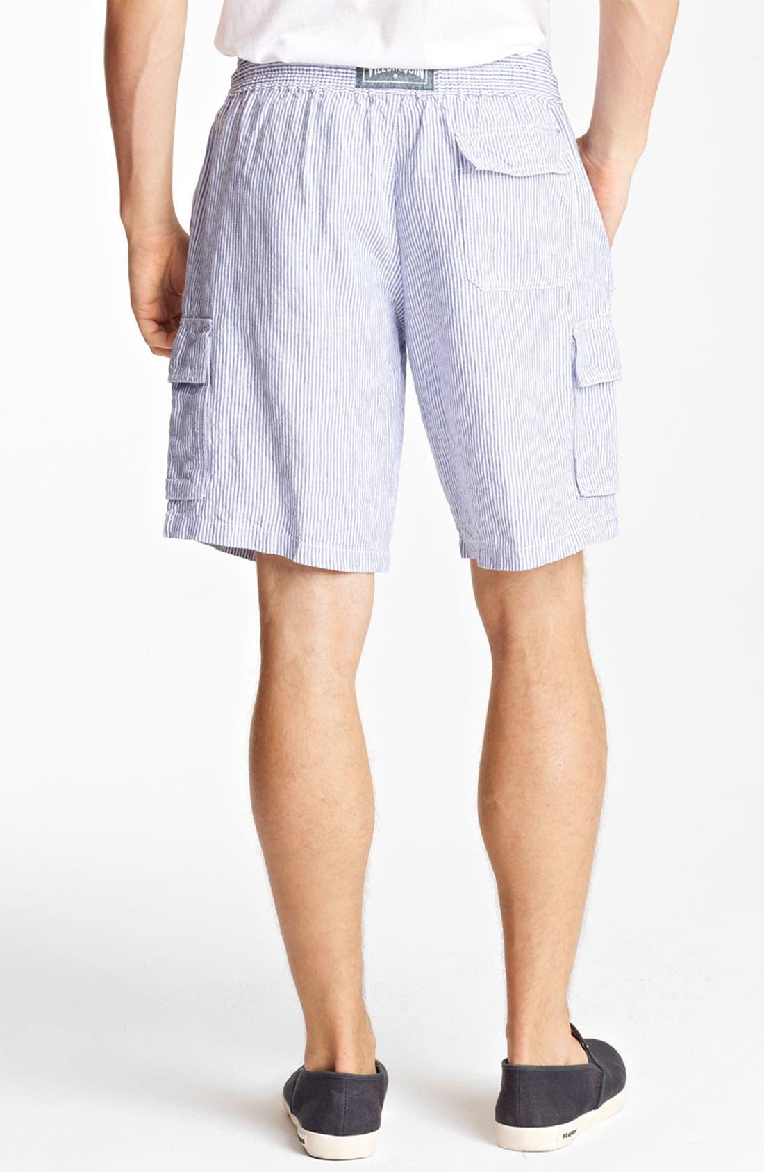 Alternate Image 2  - Vilebrequin Seersucker Linen Cargo Shorts