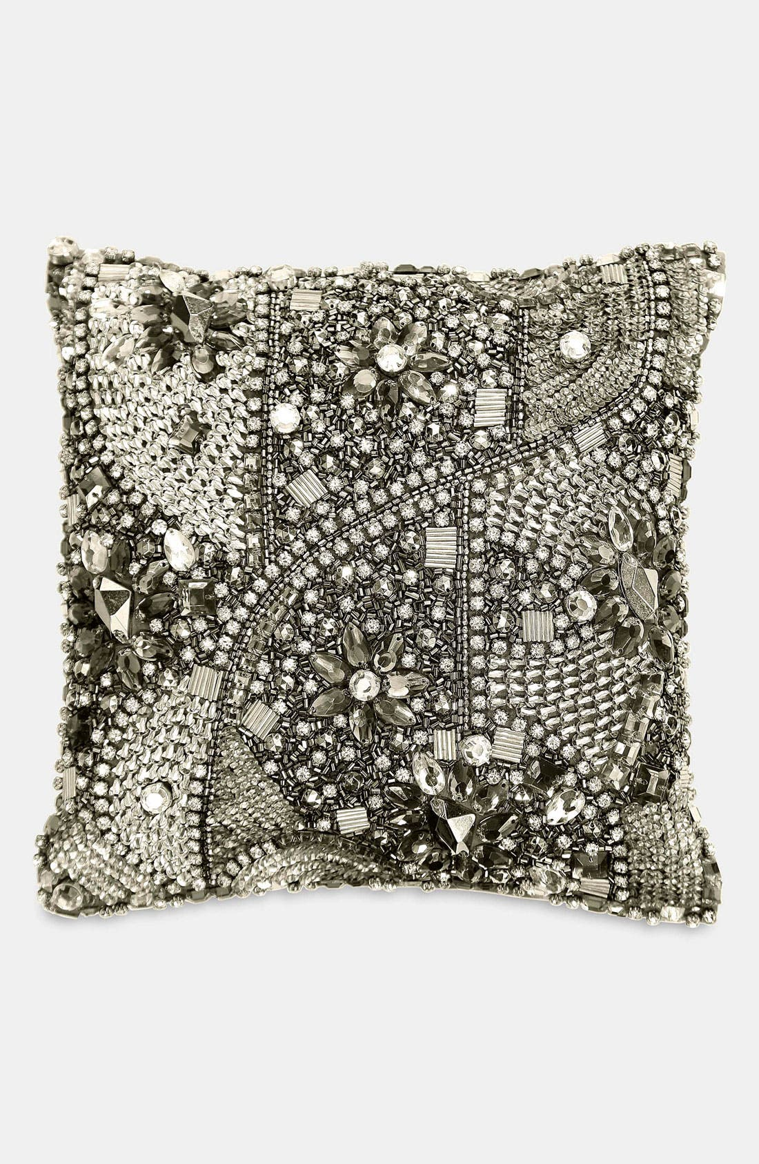 Alternate Image 1 Selected - Donna Karan 'Layered Jewels' Silk Pillow (Online Only)
