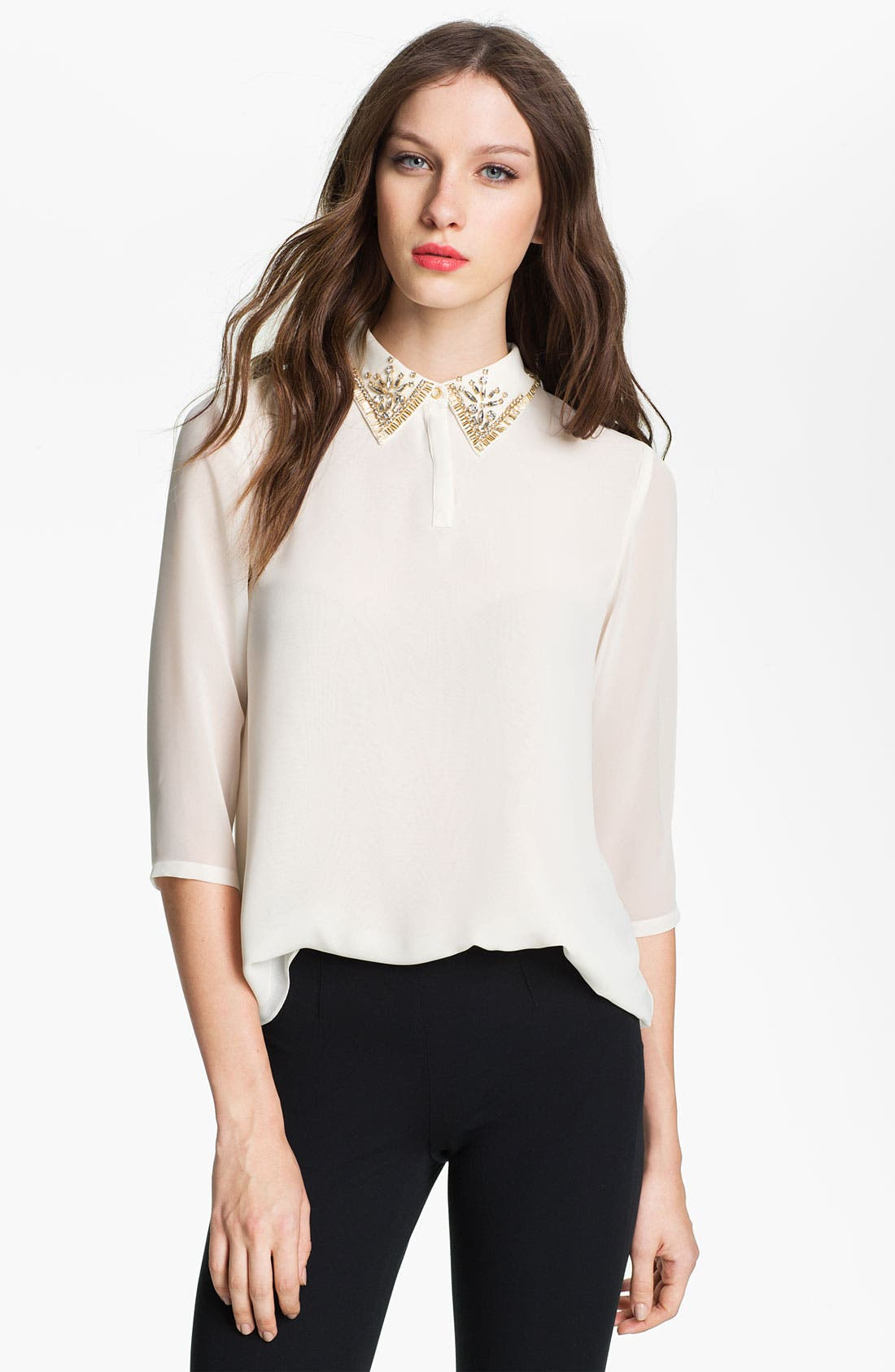 Main Image - Ted Baker London Embellished Swing Top