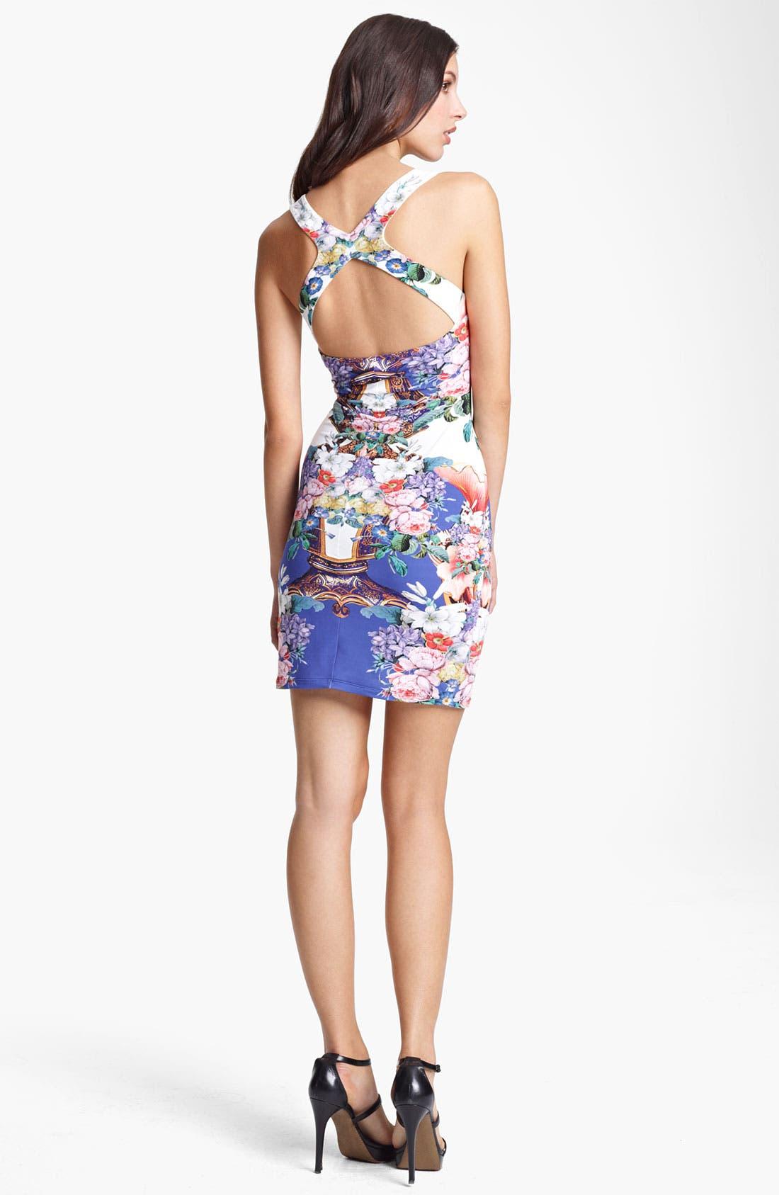 Alternate Image 2  - Roberto Cavalli Flower Print Square Neck Dress
