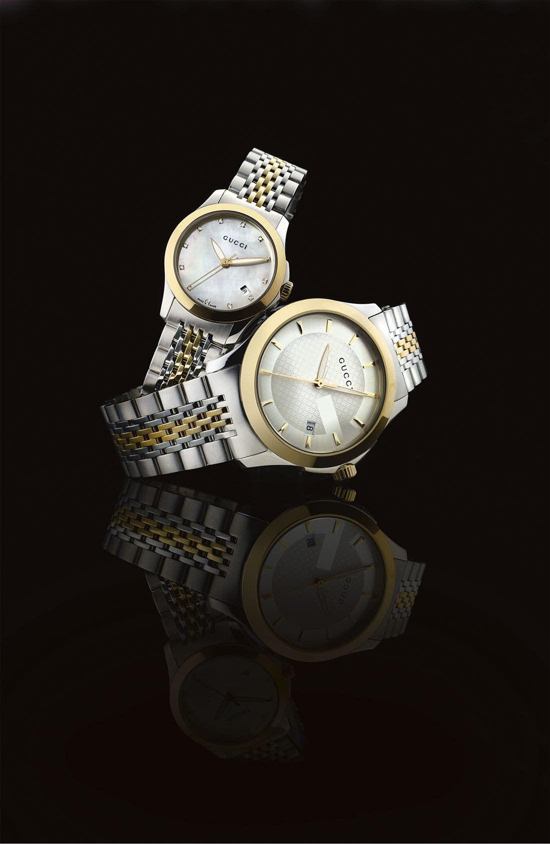 Alternate Image 2  - Gucci 'G Timeless' Small Diamond Index Bracelet Watch, 27mm