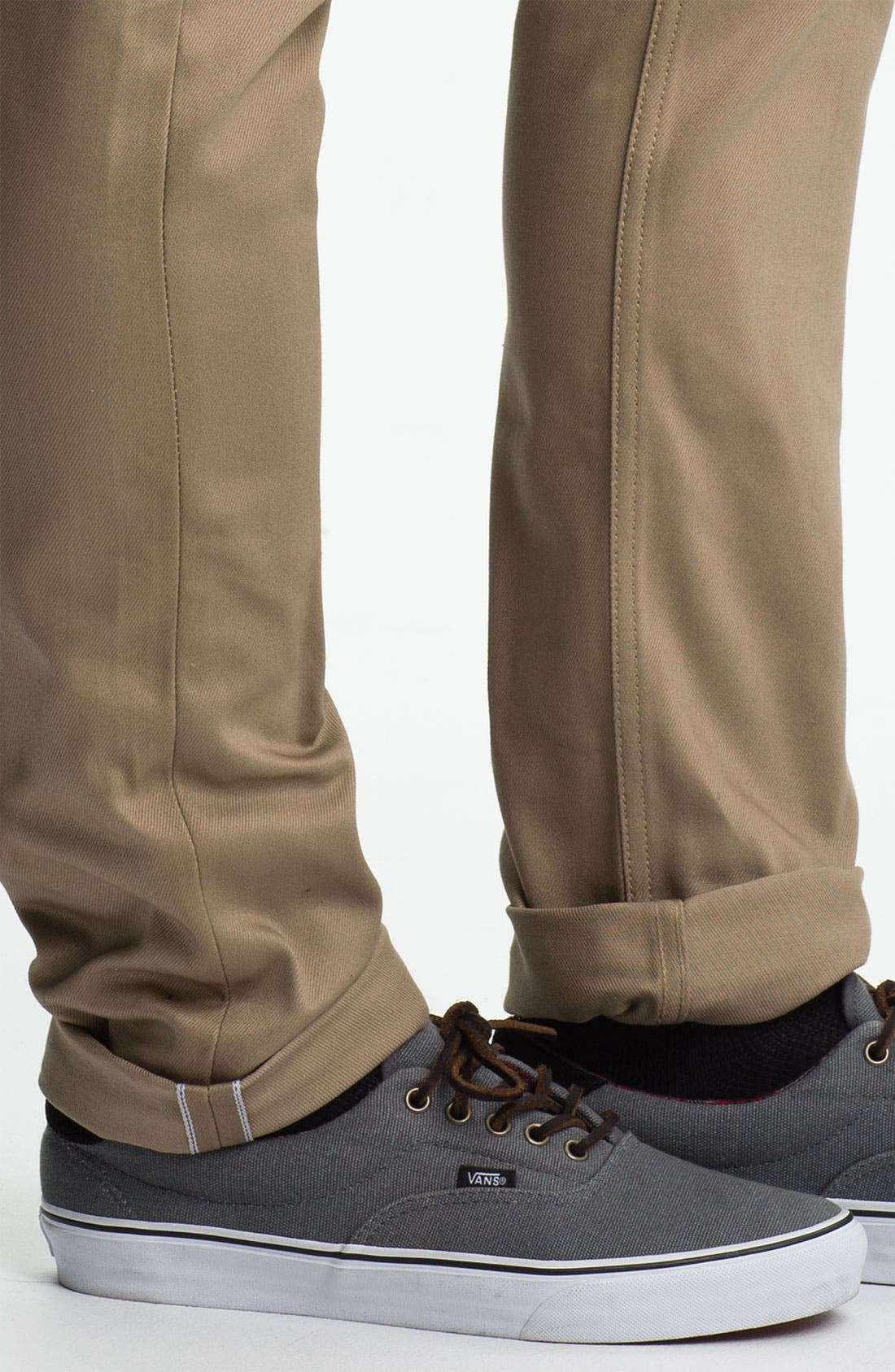 Alternate Image 4  - The Unbranded Brand 'UB107' Skinny Fit Selvedge Chinos