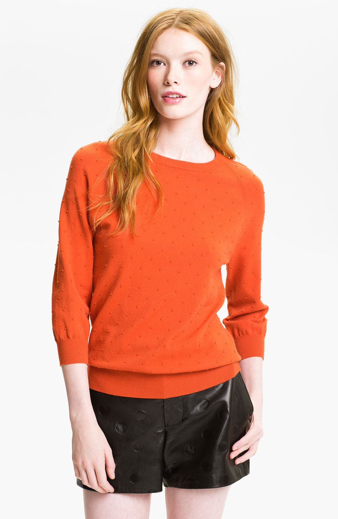 Alternate Image 1 Selected - MARC BY MARC JACOBS 'Imogen' Swiss Dot Sweater