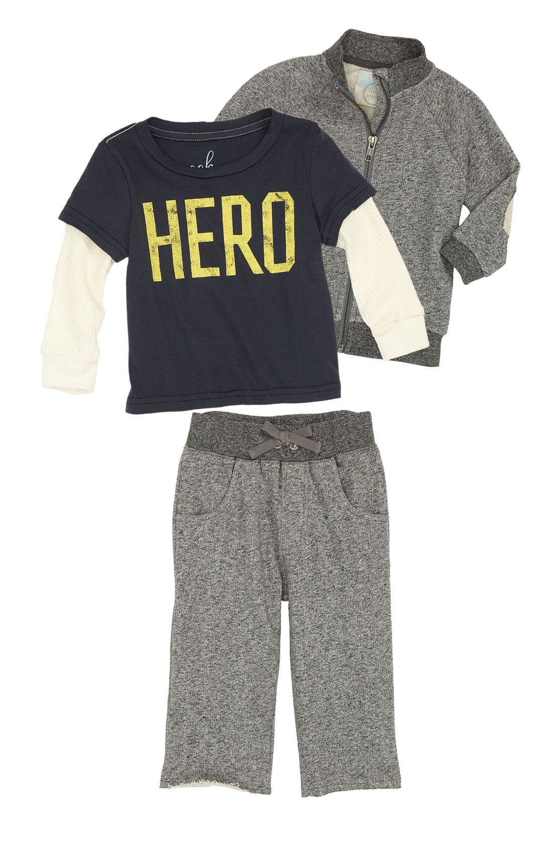 Alternate Image 1 Selected - Peek Sweater, Tee & Pants (Infant)