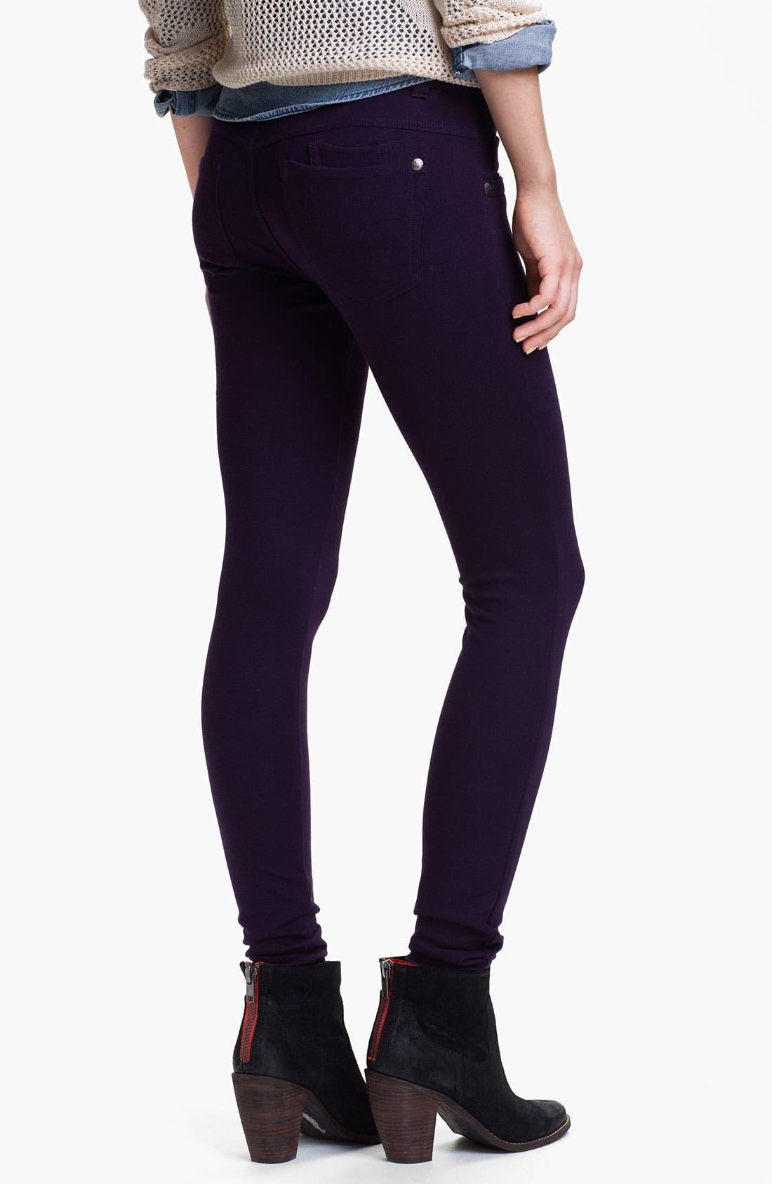 Alternate Image 2  - Jolt Ponte Knit Skinny Pants (Juniors)
