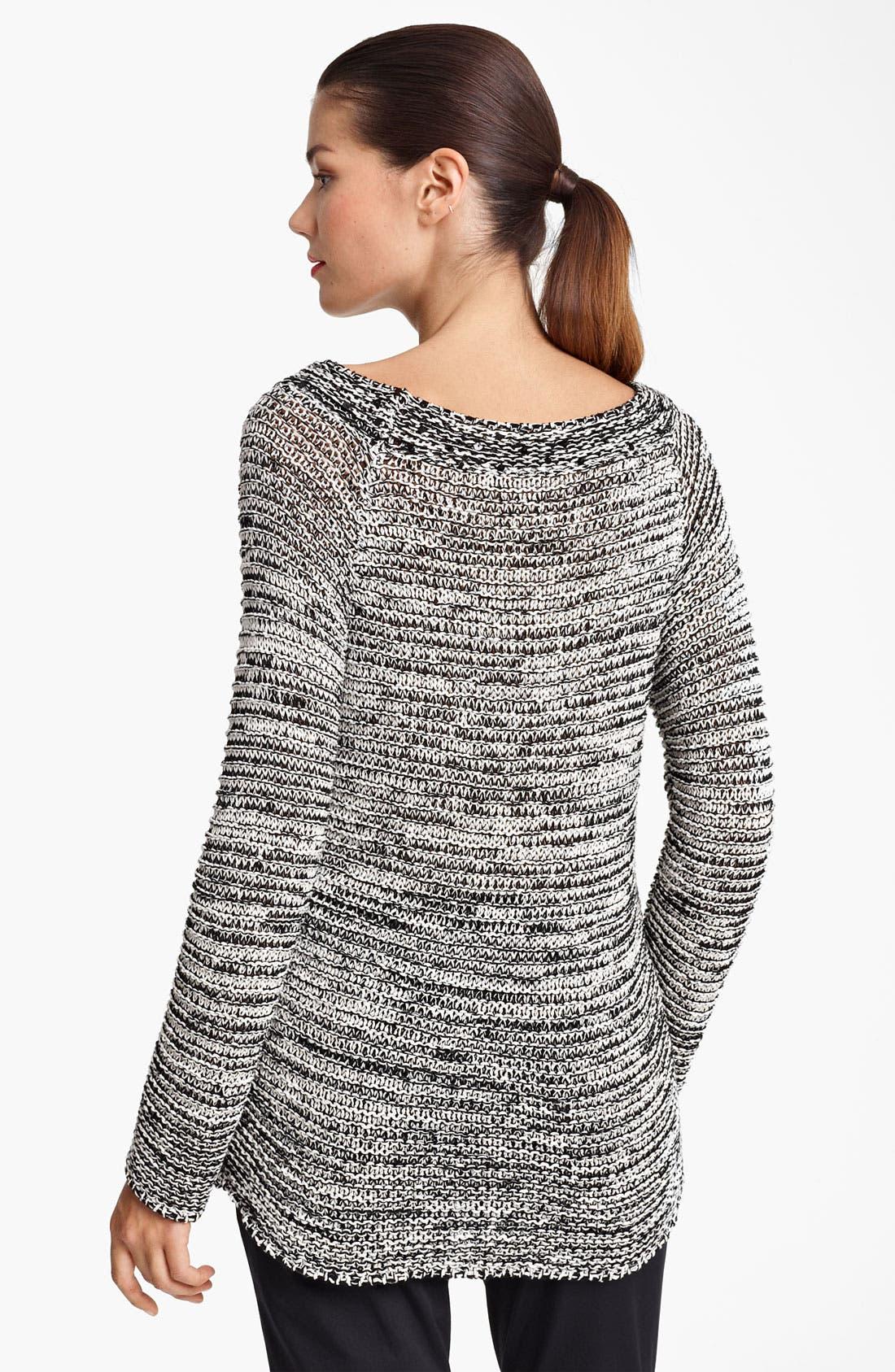 Alternate Image 2  - Piazza Sempione Sequin Neckline Crochet Knit Sweater