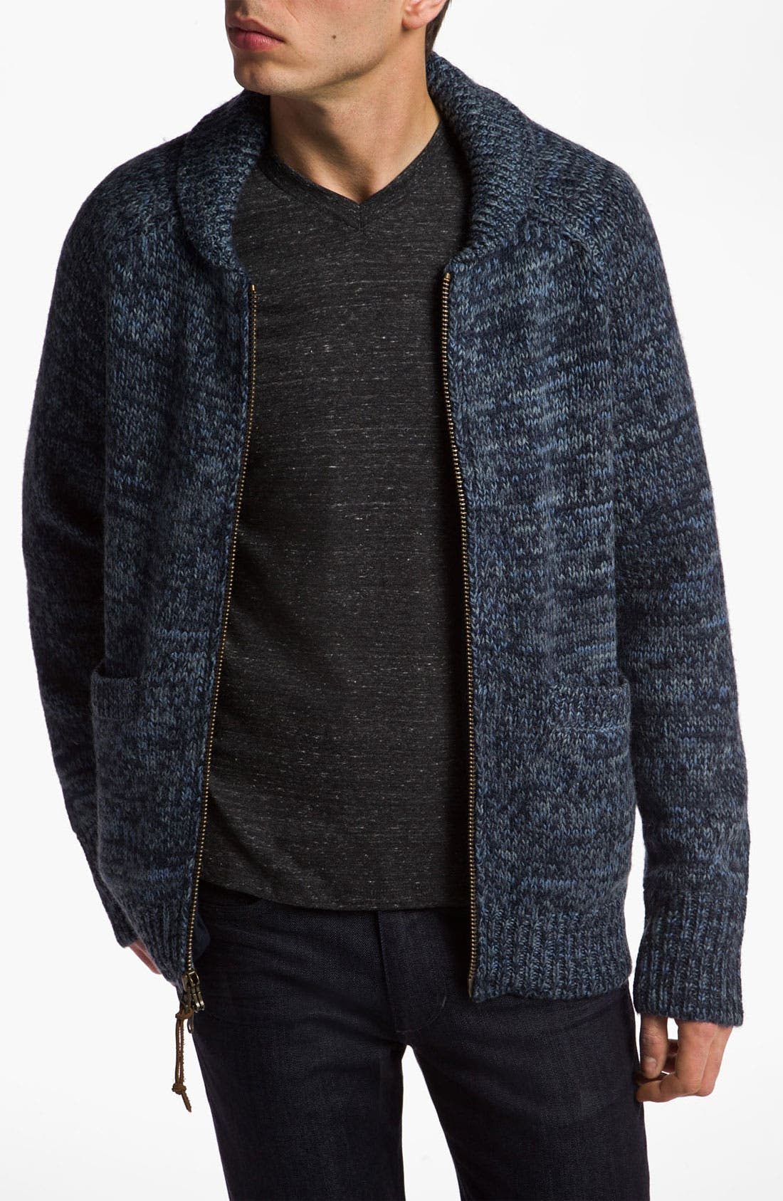 Main Image - VSTR 'Captains' Wool Blend Zip Cardigan