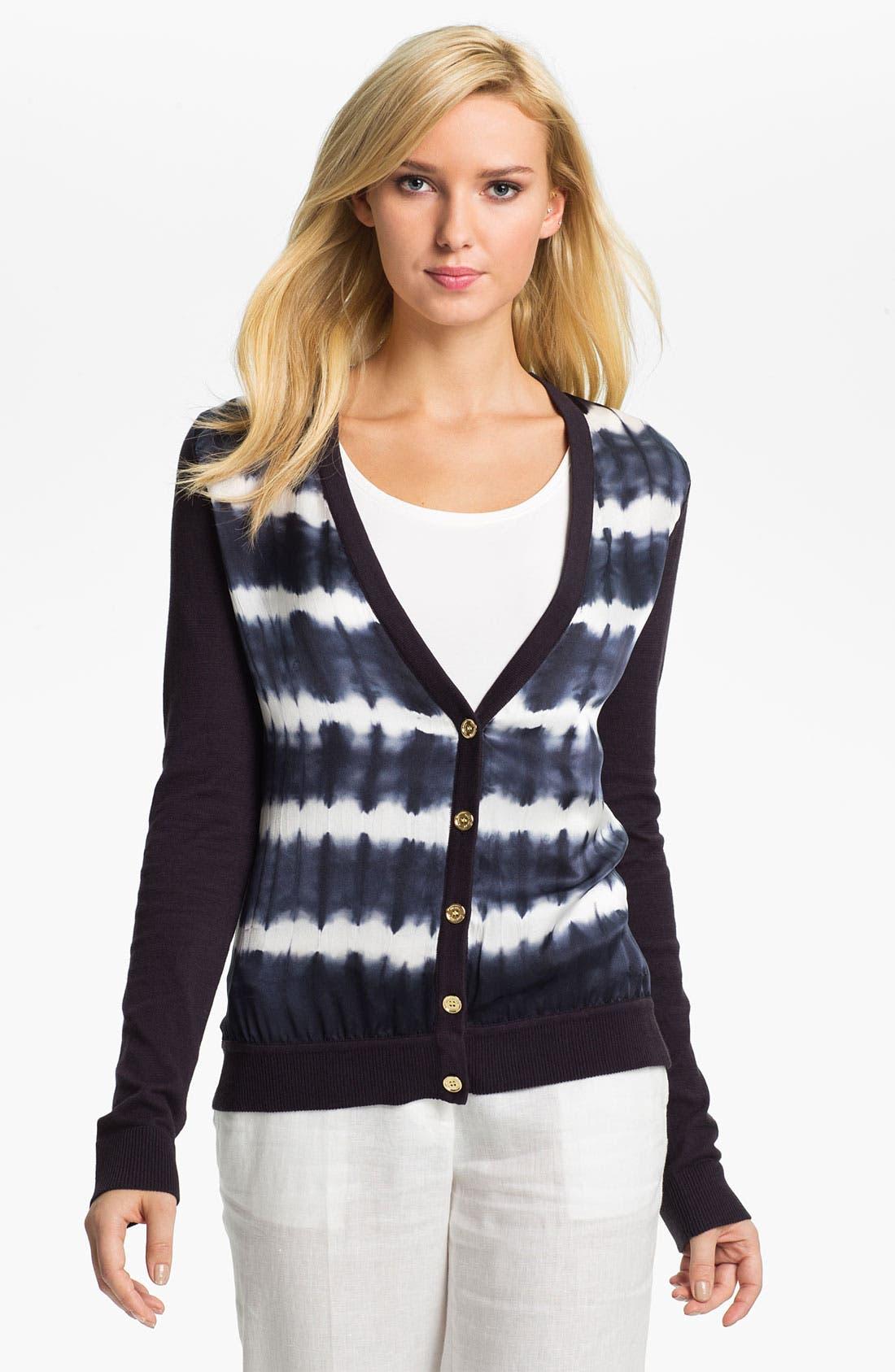 Main Image - MICHAEL Michael Kors Tie Dye Front Cardigan