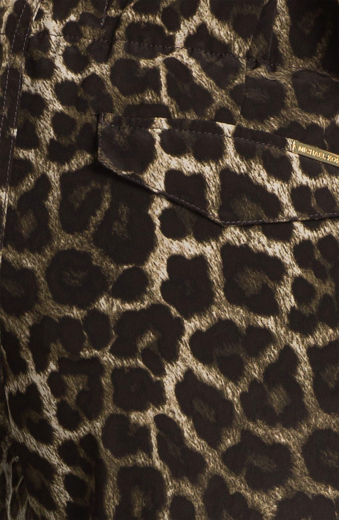 Alternate Image 4  - MICHAEL Michael Kors Leopard Print Pants