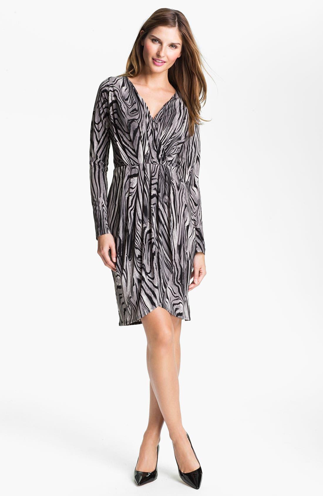Main Image - Karen Kane Pleated Faux Wrap Dress