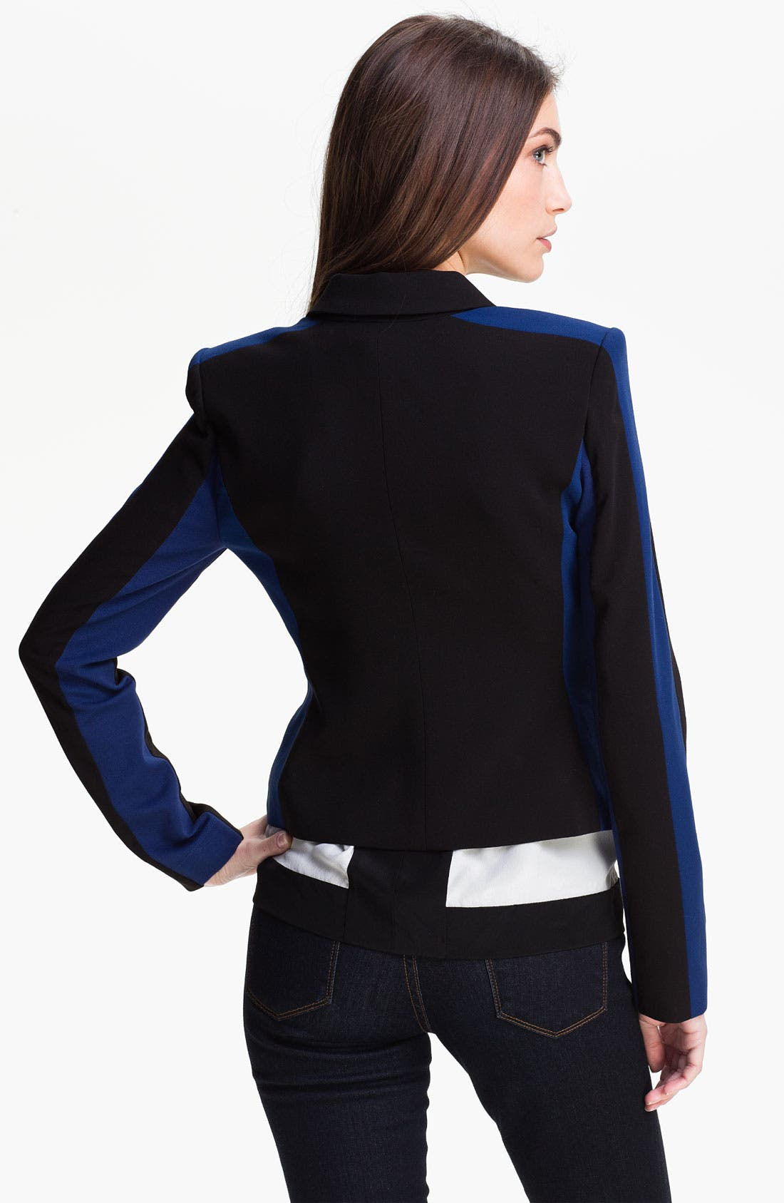 Alternate Image 2  - BCBGMAXAZRIA Woven Jacket