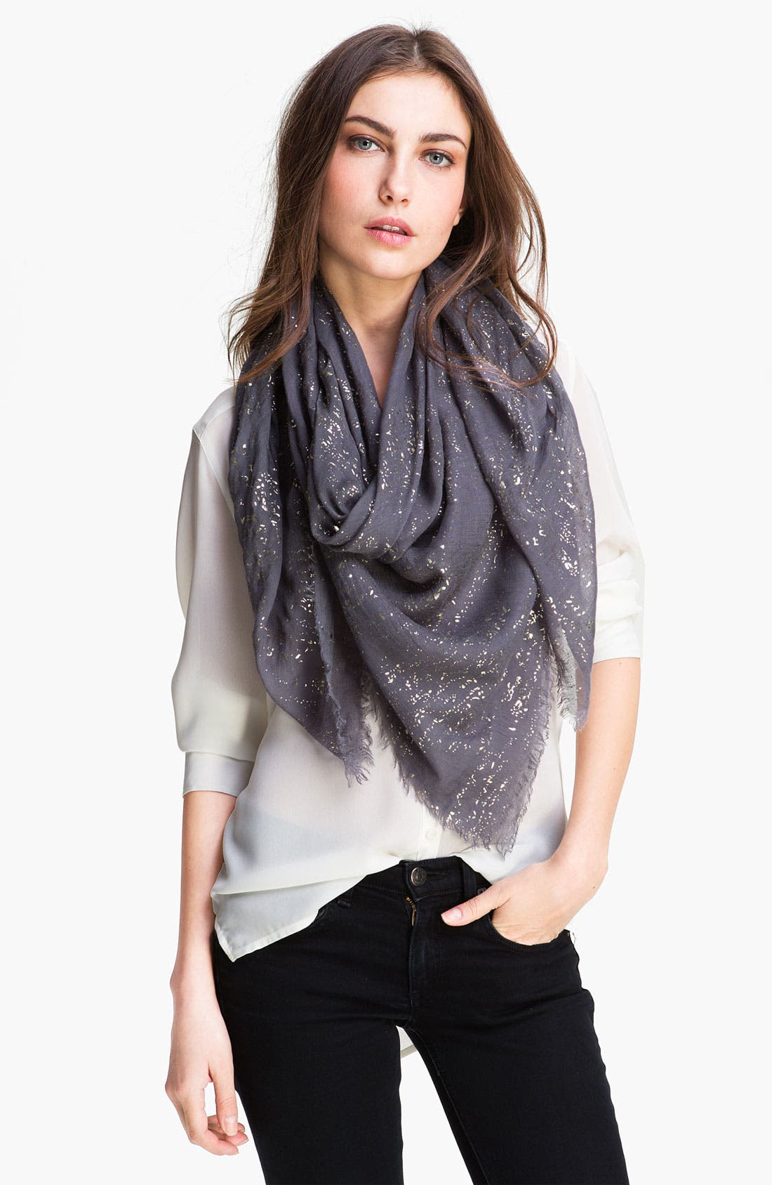Alternate Image 1 Selected - Jessica Simpson Glitter Gauze Scarf