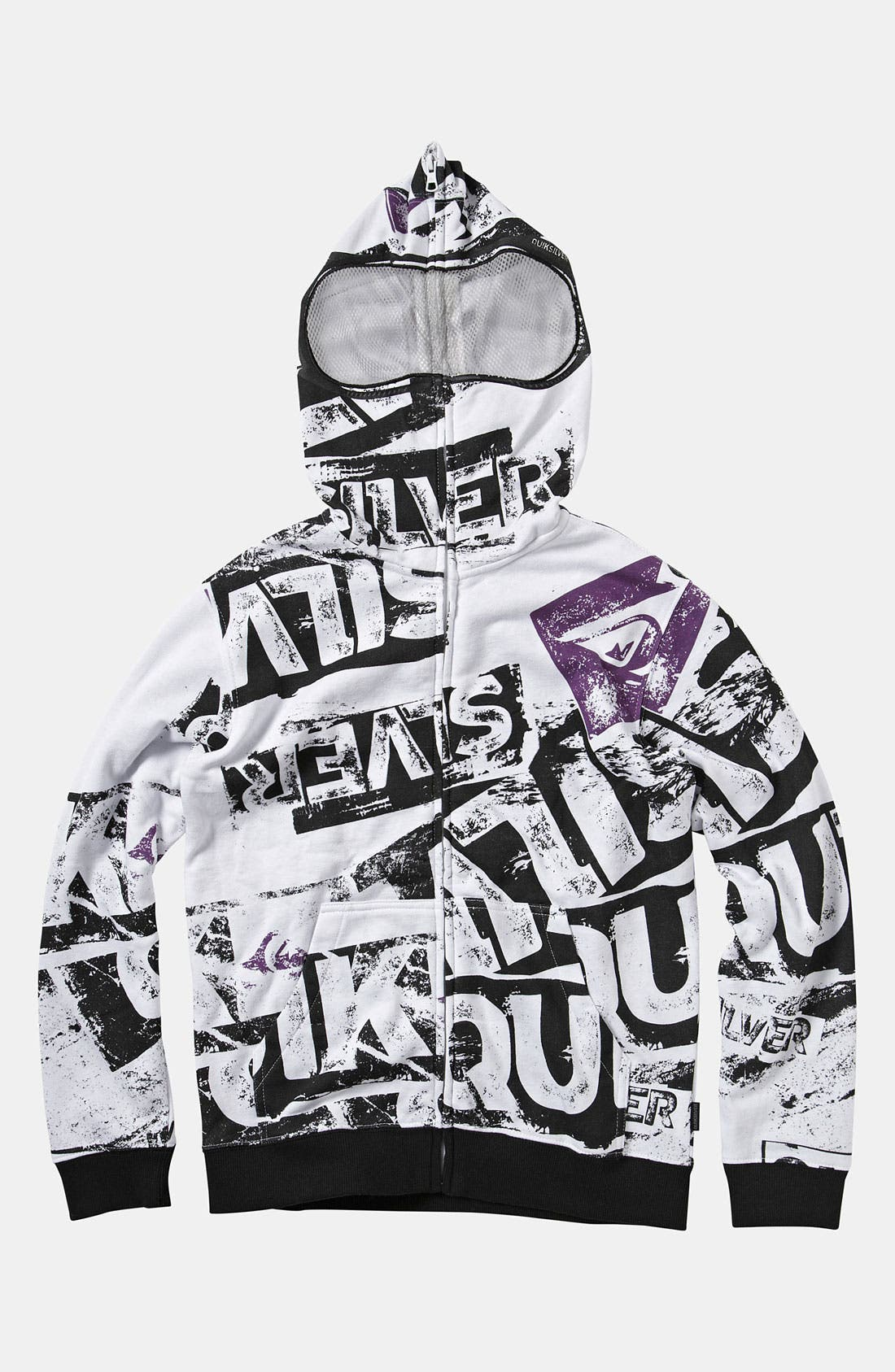 Alternate Image 1 Selected - Quiksilver 'Sandy Goggles' Mask Hoodie (Big Boys)