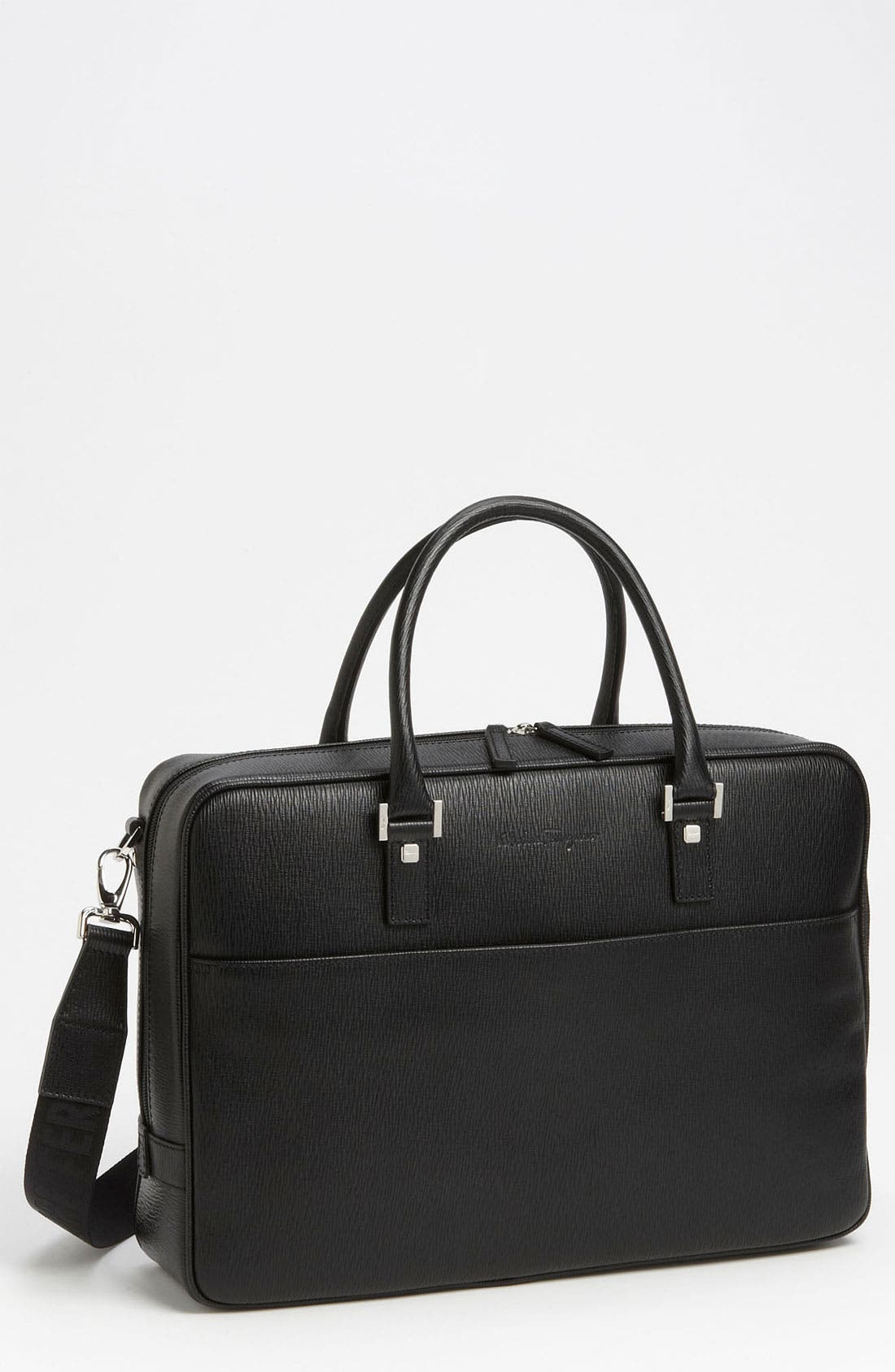 Salvatore Ferragamo Calfskin Briefcase
