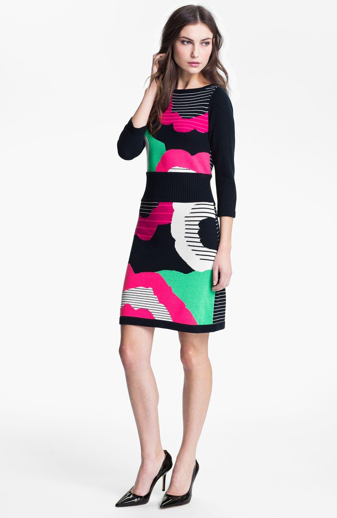 Alternate Image 1 Selected - Nanette Lepore 'Cartoonist' Cotton Blend Sweater Dress