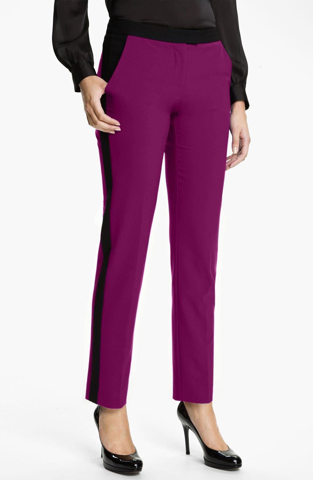 Alternate Image 1 Selected - Vince Camuto Colorblock Pants (Petite)