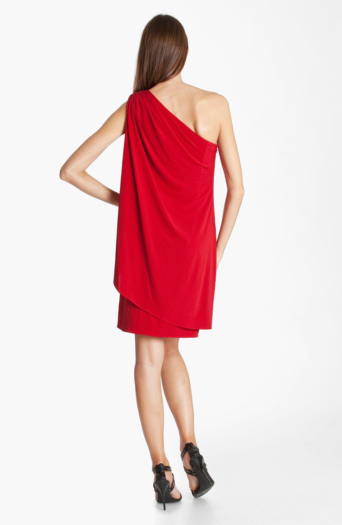 Alternate Image 2  - JS Boutique One Shoulder Draped Jersey Dress