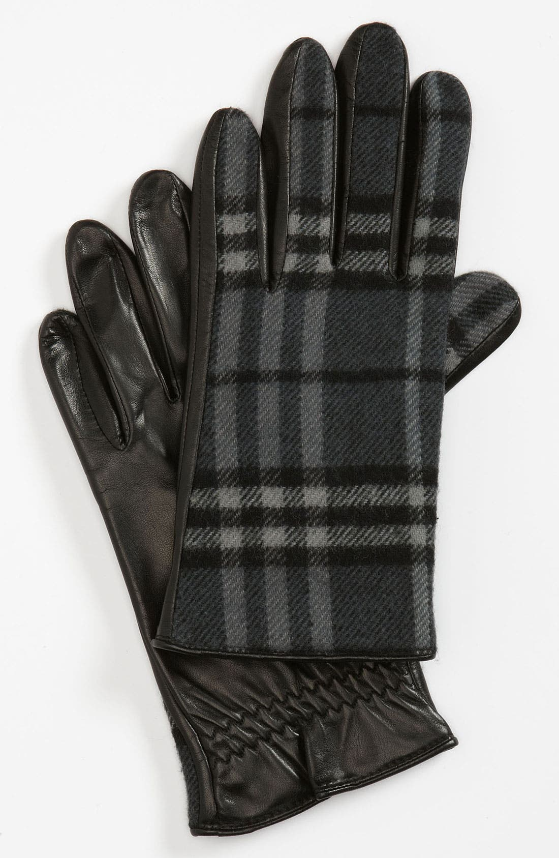 Alternate Image 1 Selected - Burberry 'Luca' Check Gloves
