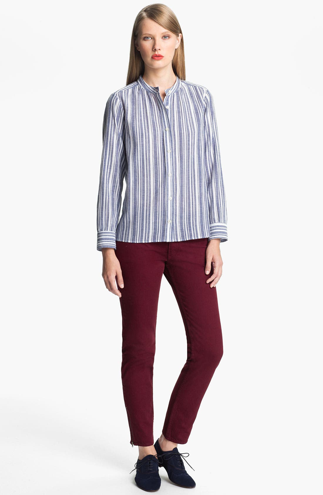 Alternate Image 1 Selected - A.P.C. Metallic Stripe Blouse