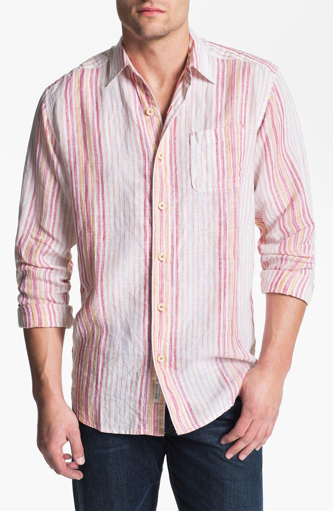 Alternate Image 1 Selected - Tommy Bahama 'Coconut Lanes' Linen Sport Shirt (Big & Tall)