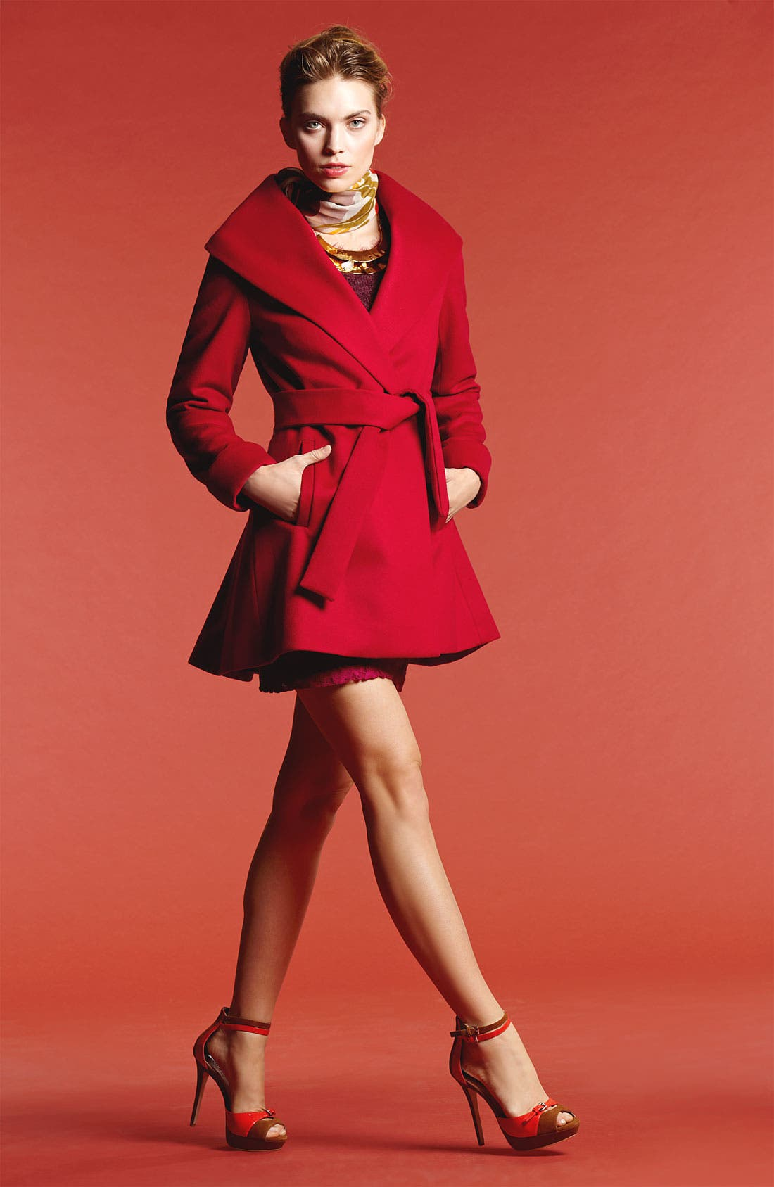 Alternate Image 5  - Trina Turk Belted Wrap Coat (Regular & Petite)