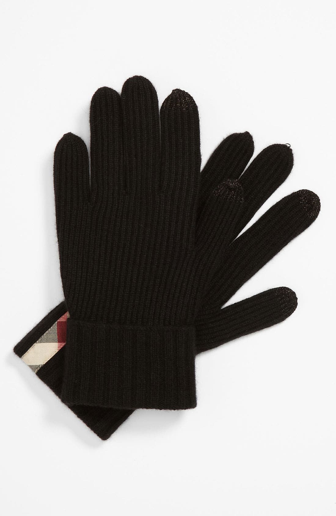 Alternate Image 1 Selected - Burberry Touch Screen Cashmere Gloves