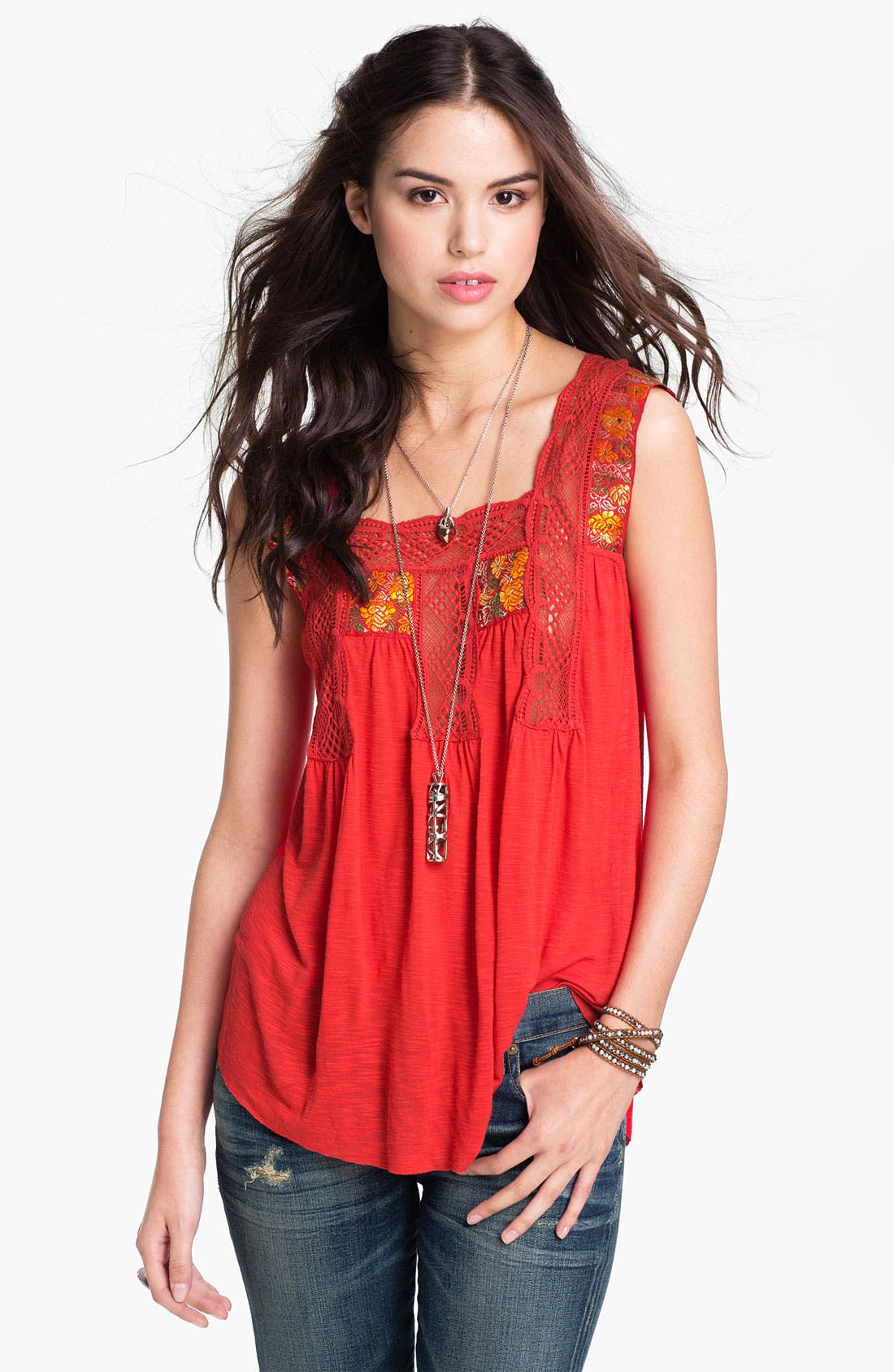 Alternate Image 1 Selected - Free People Square Neck Bohemian Tank