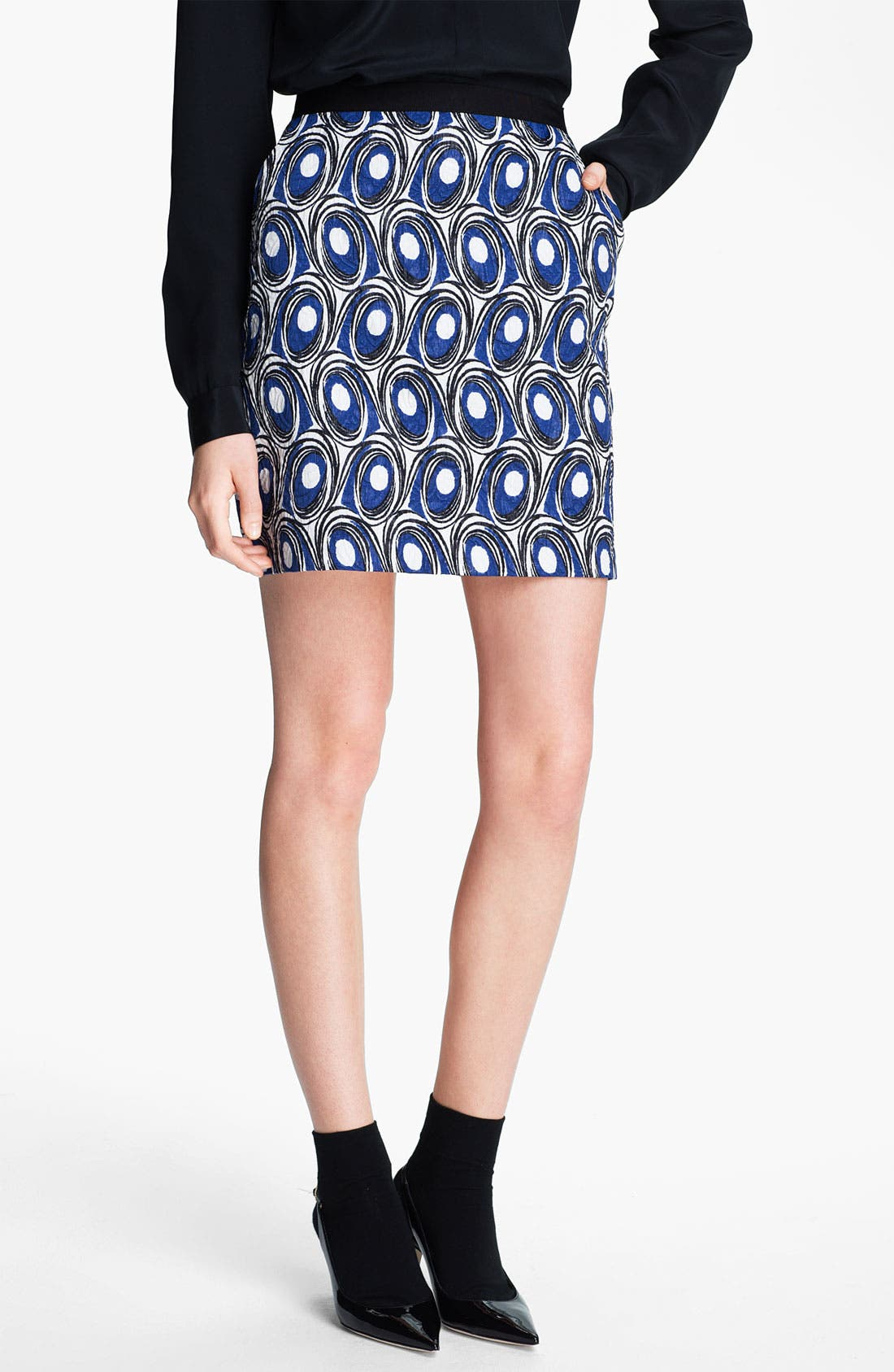 Main Image - Miss Wu Abstract Print Jacquard Skirt (Nordstrom Exclusive)