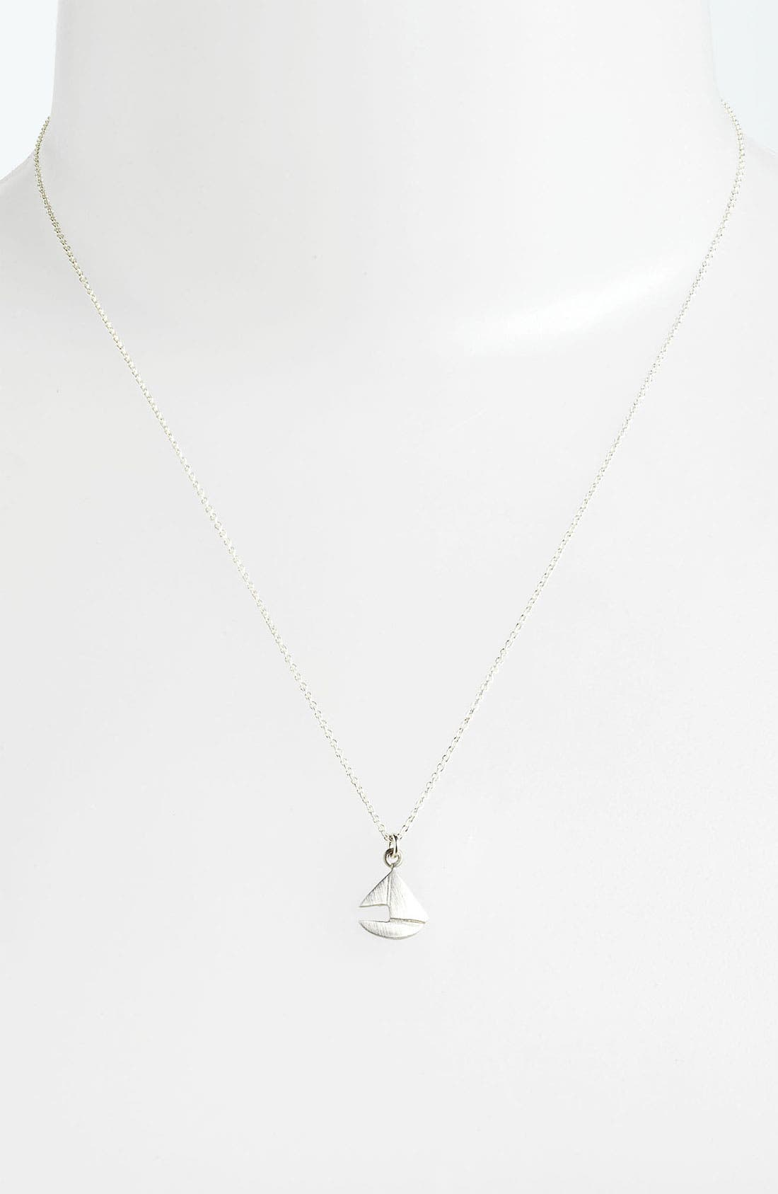 Alternate Image 2  - Dogeared 'You Float My Boat' Sailboat Pendant Necklace