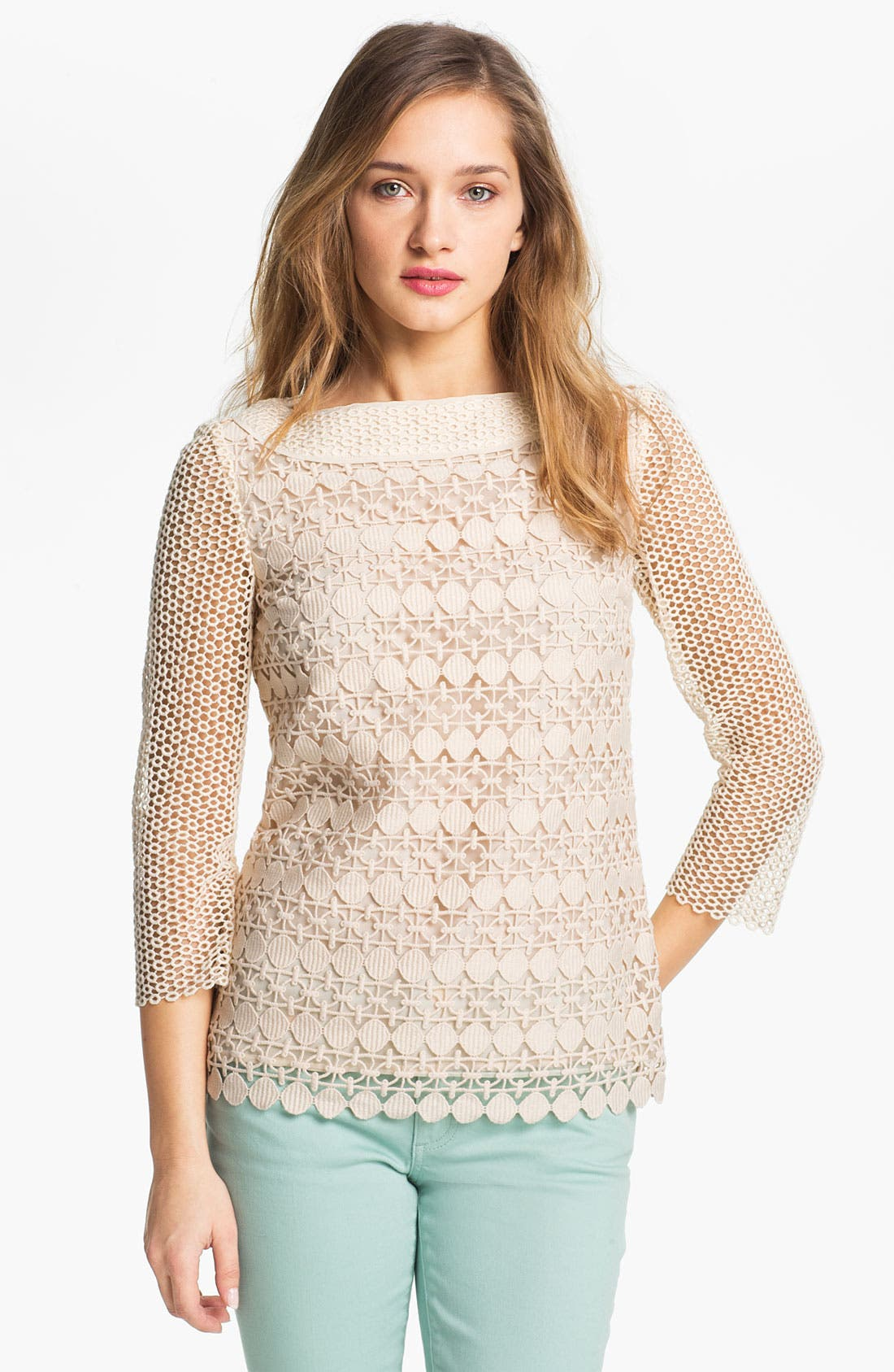 Main Image - Tory Burch Lace Top