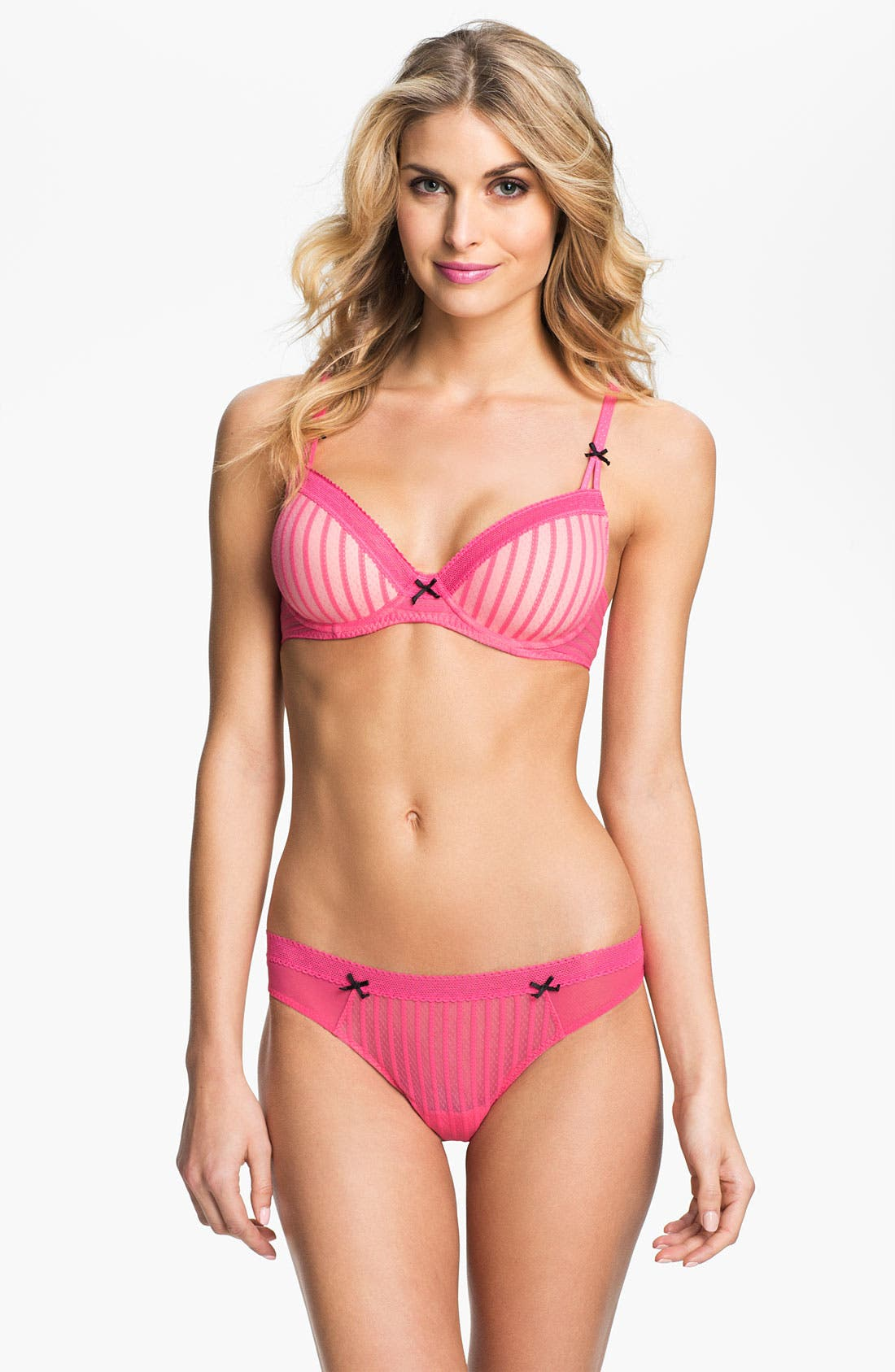 Alternate Image 3  - Betsey Johnson 'Stocking Stripe' Thong