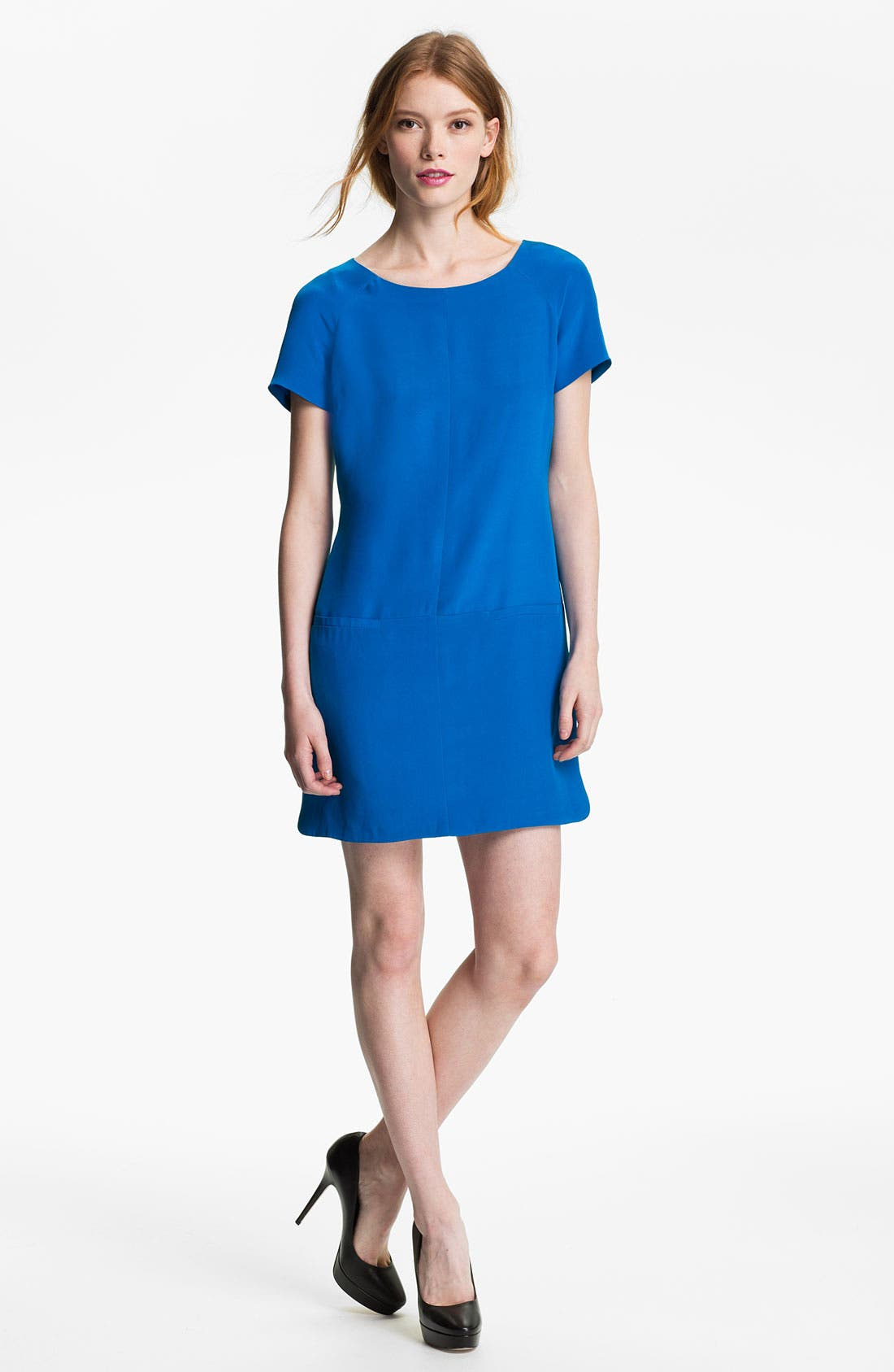 Main Image - Rebecca Minkoff 'Rick' Colorblock Silk Dress