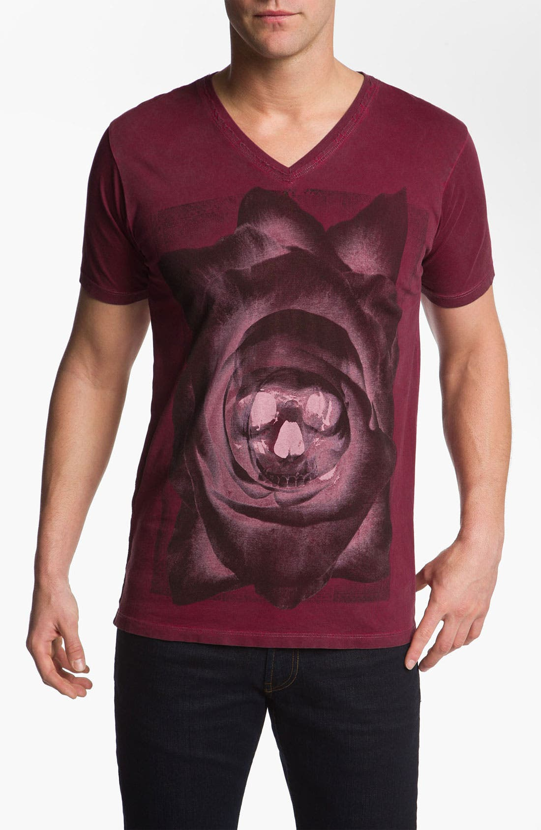 Main Image - Black Hearts Brigade 'Skull Rose' Graphic T-Shirt